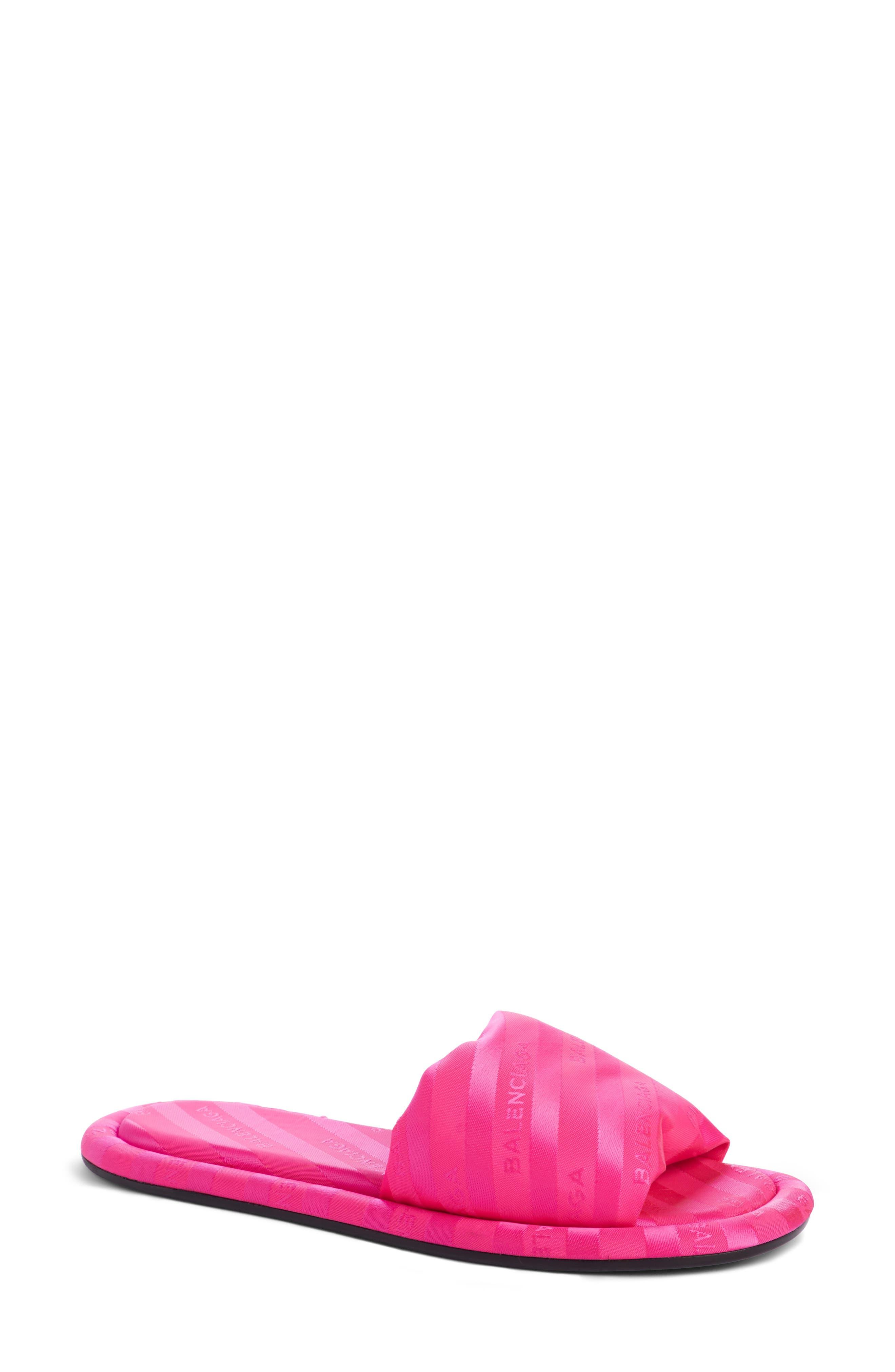 Balenciaga Stripe Slide Sandal (Women)