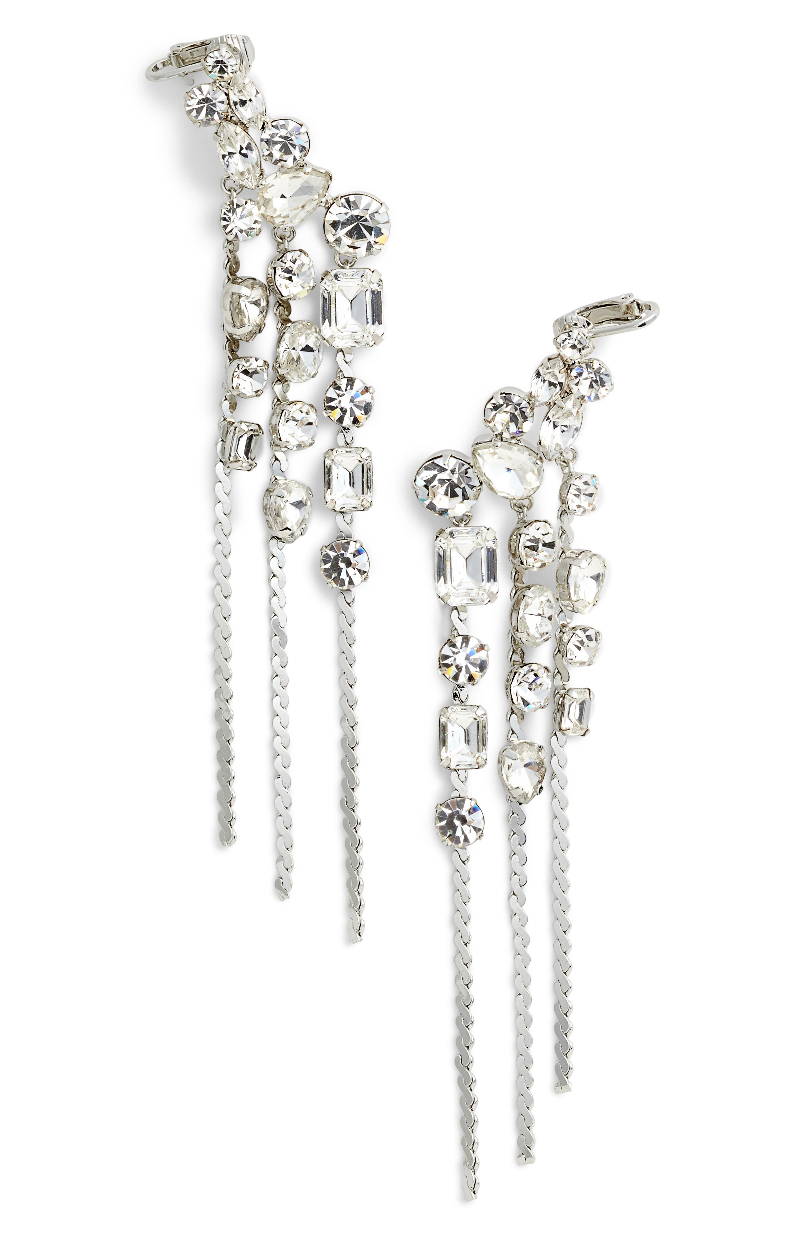 Crystal Ear Crawlers,                         Main,                         color, Clear/ Silver