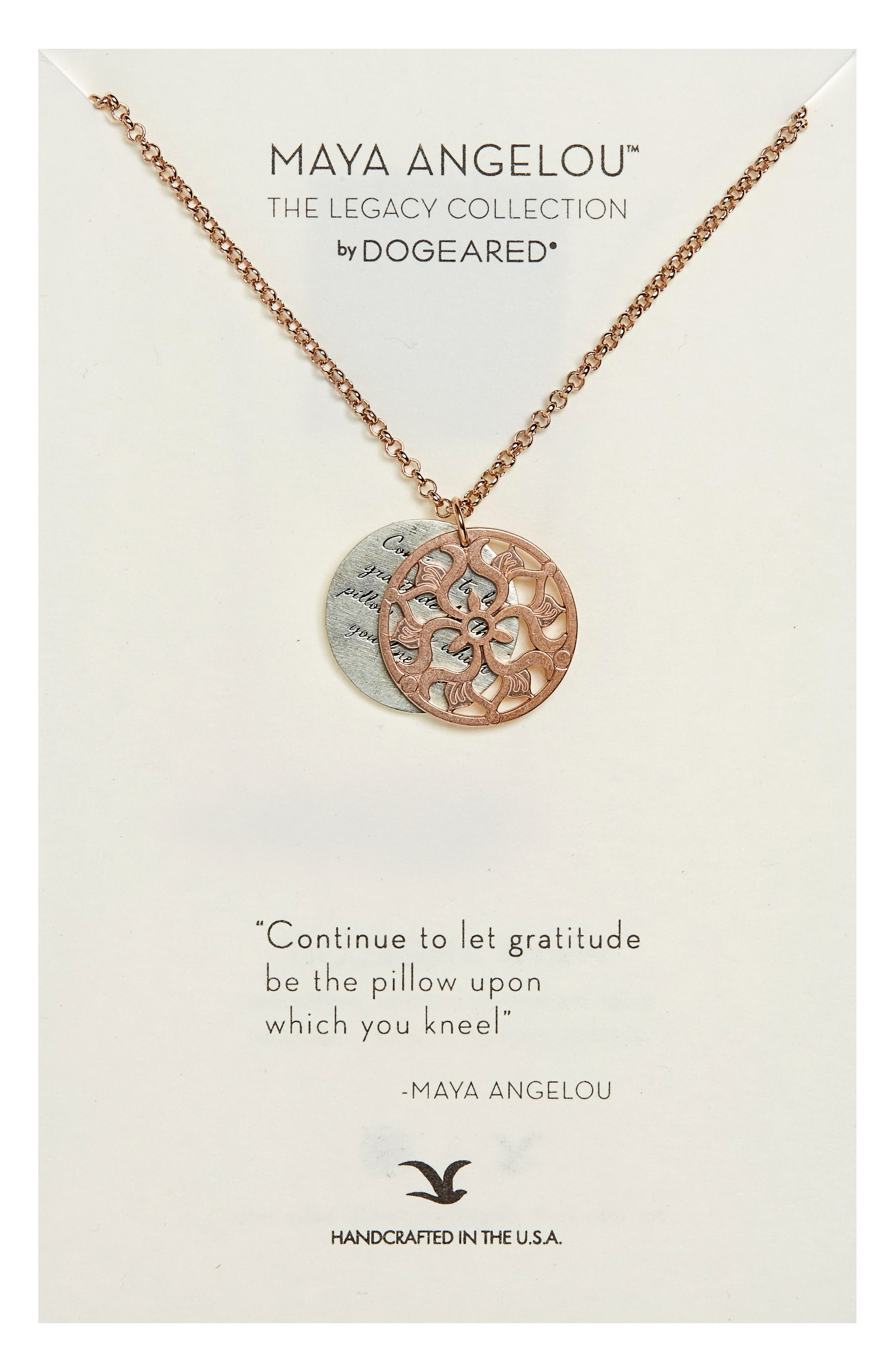 Dogeared The Legacy Collection - Continue to Let Gratitude... Pendant Necklace