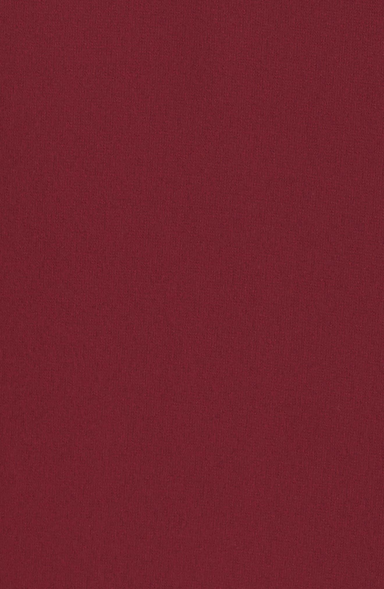 Ruffled Georgette Skirt,                             Alternate thumbnail 5, color,                             Burgundy