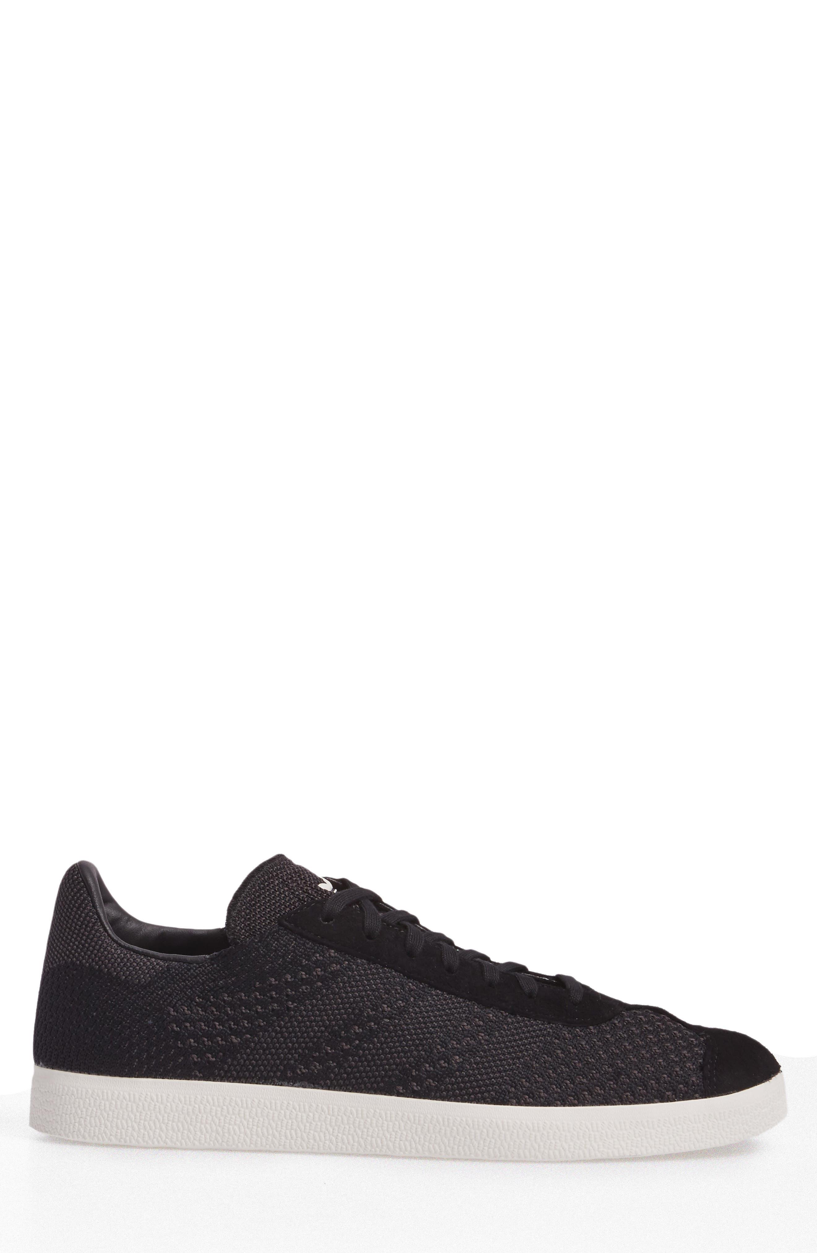 Gazelle Primeknit Sneaker,                             Alternate thumbnail 3, color,                             Core Black/ Off White