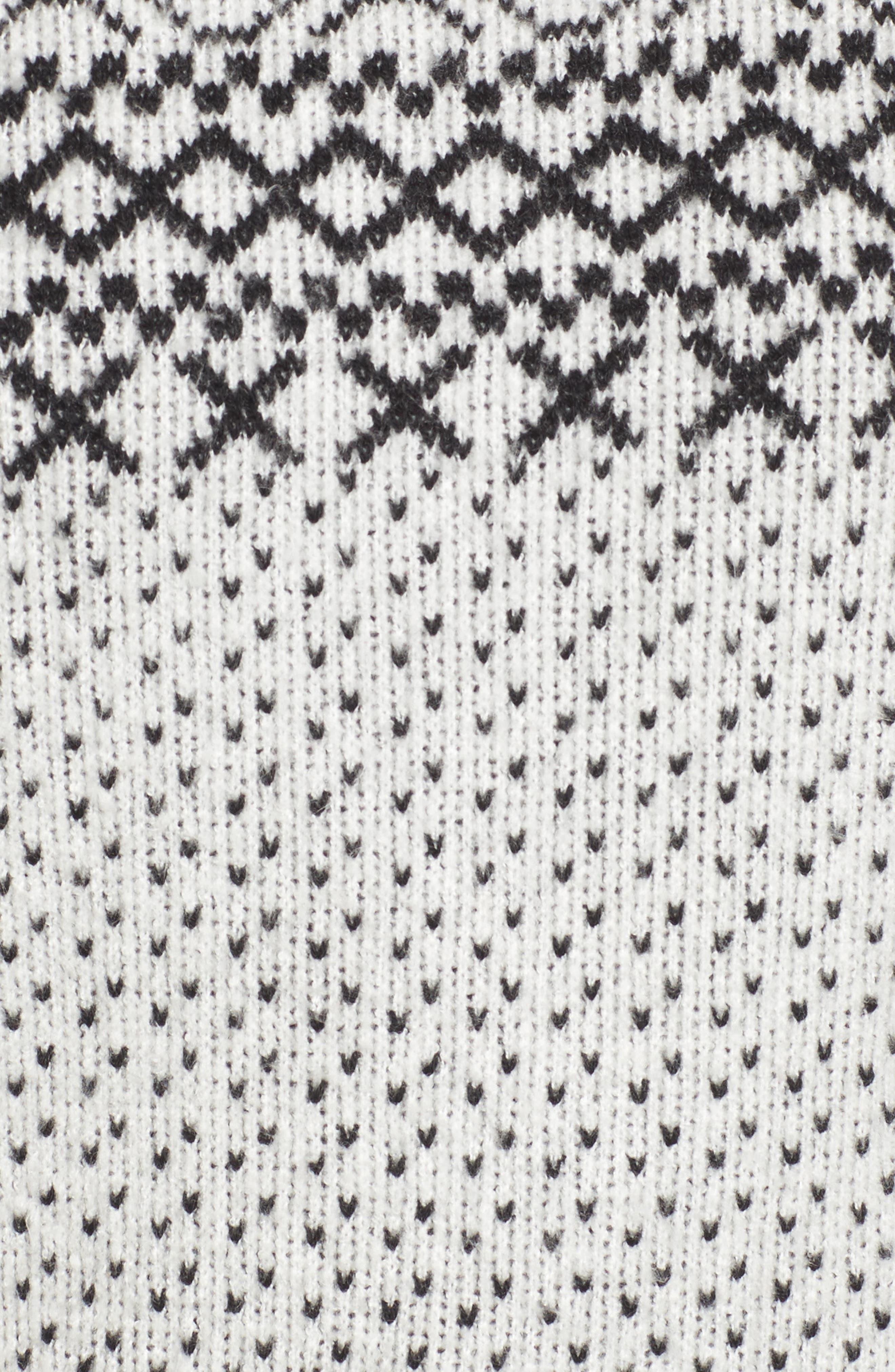 Fair Isle Sweater,                             Alternate thumbnail 6, color,                             Ivory Diamond Fairisle