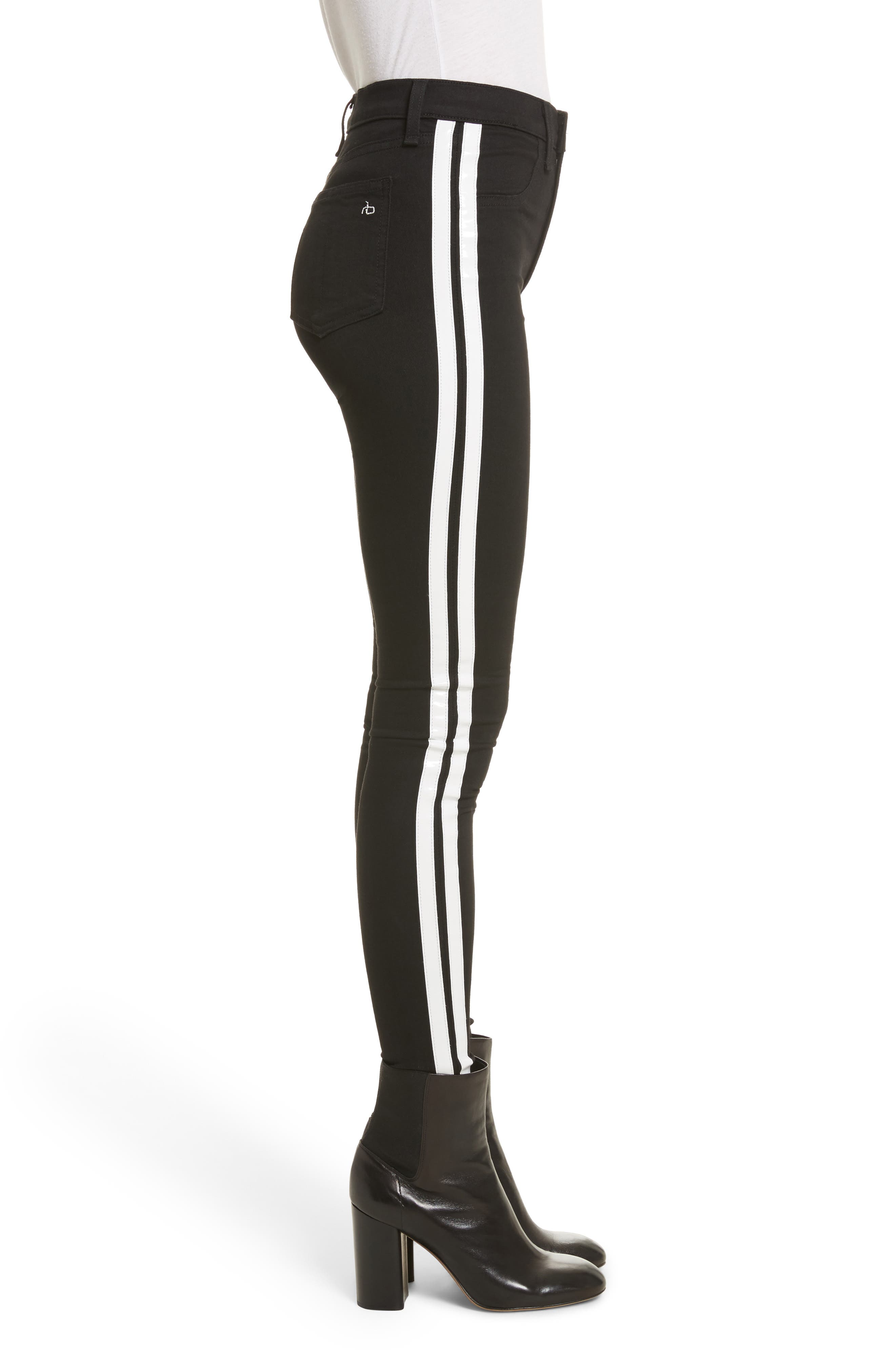 Mito High Waist Skinny Jeans,                             Alternate thumbnail 3, color,                             Black