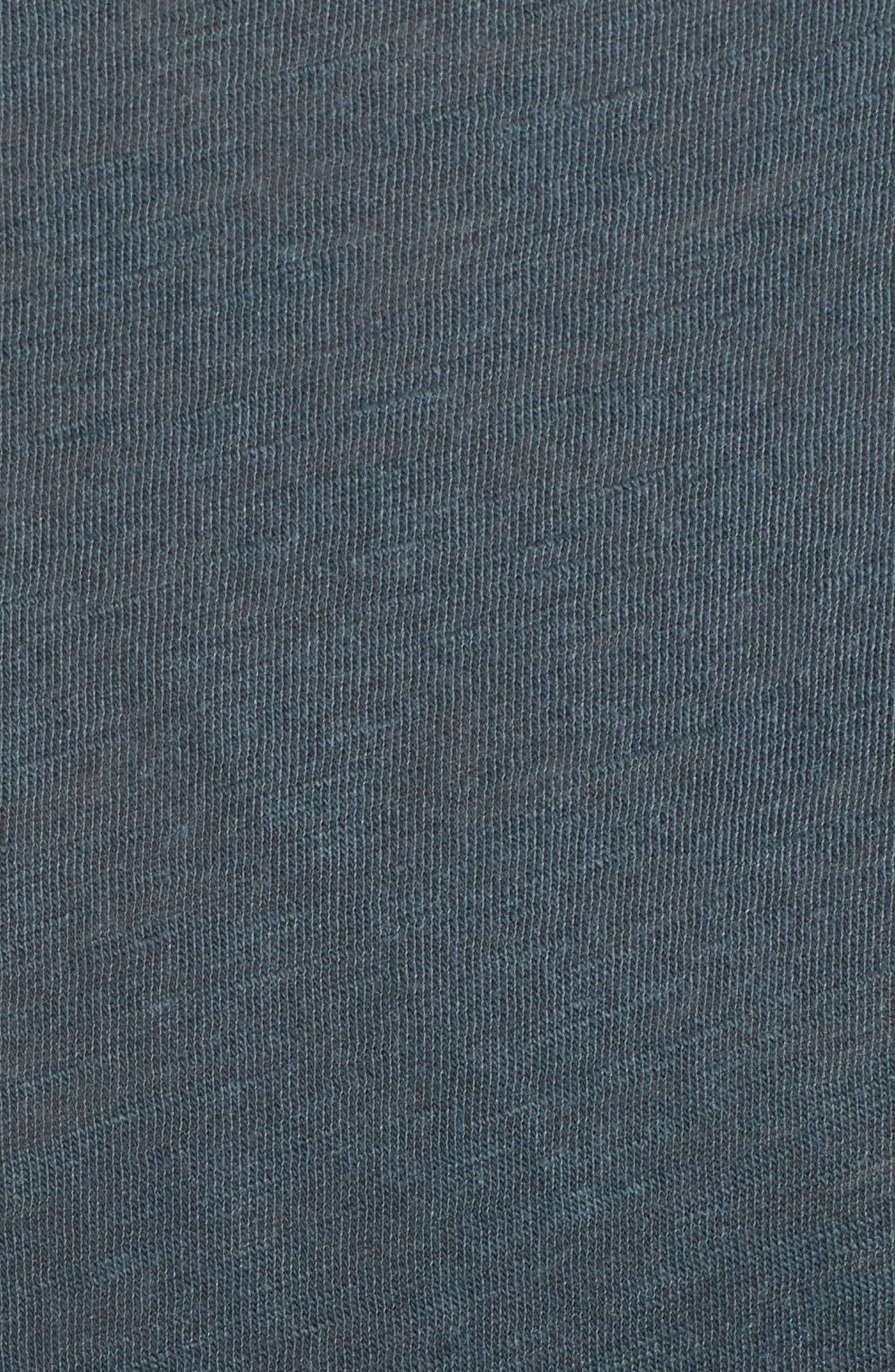 Pleat T-Shirt Dress,                             Alternate thumbnail 5, color,                             Pine