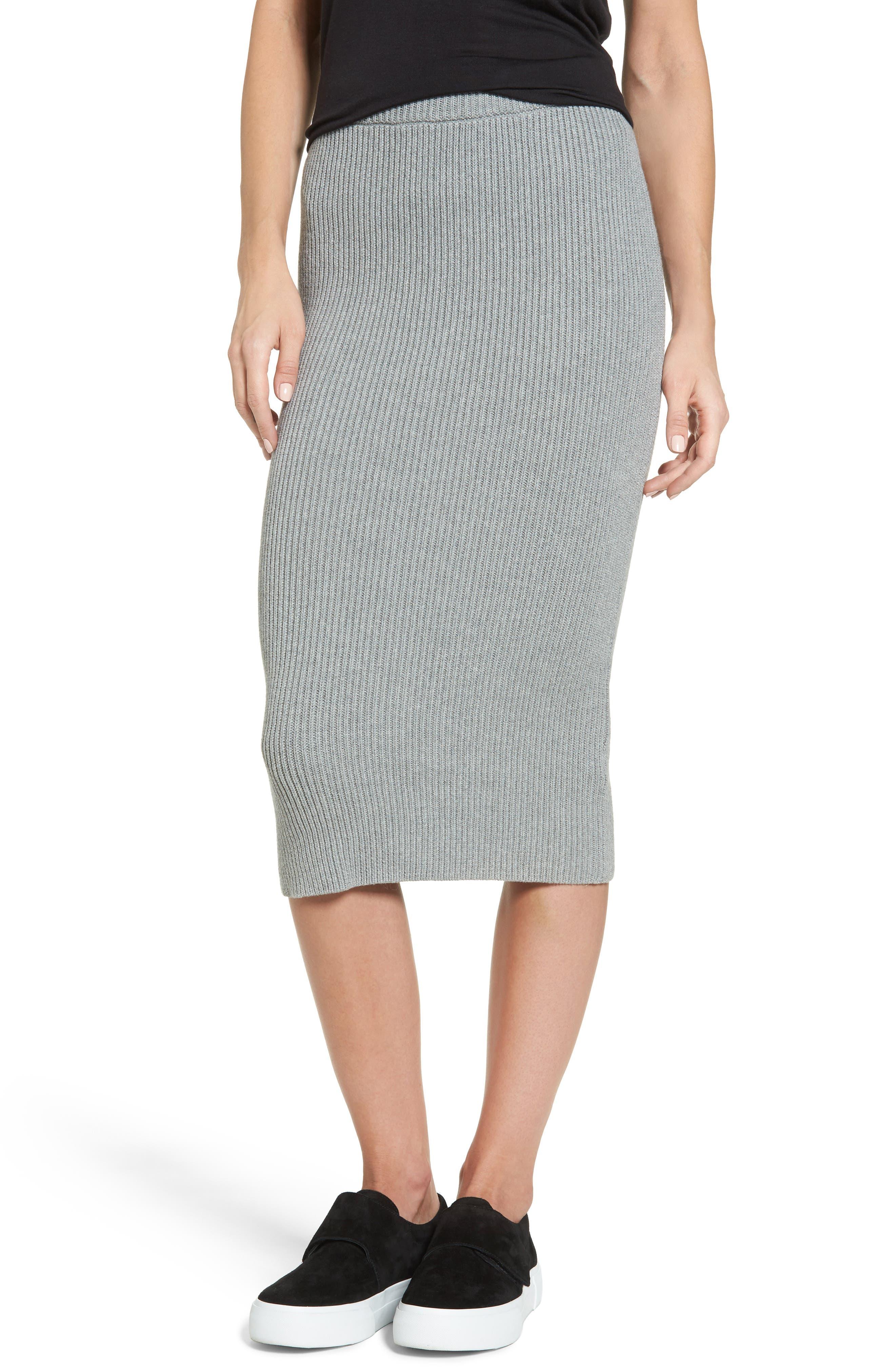 Galactic Knit Skirt,                         Main,                         color, Grey Marble