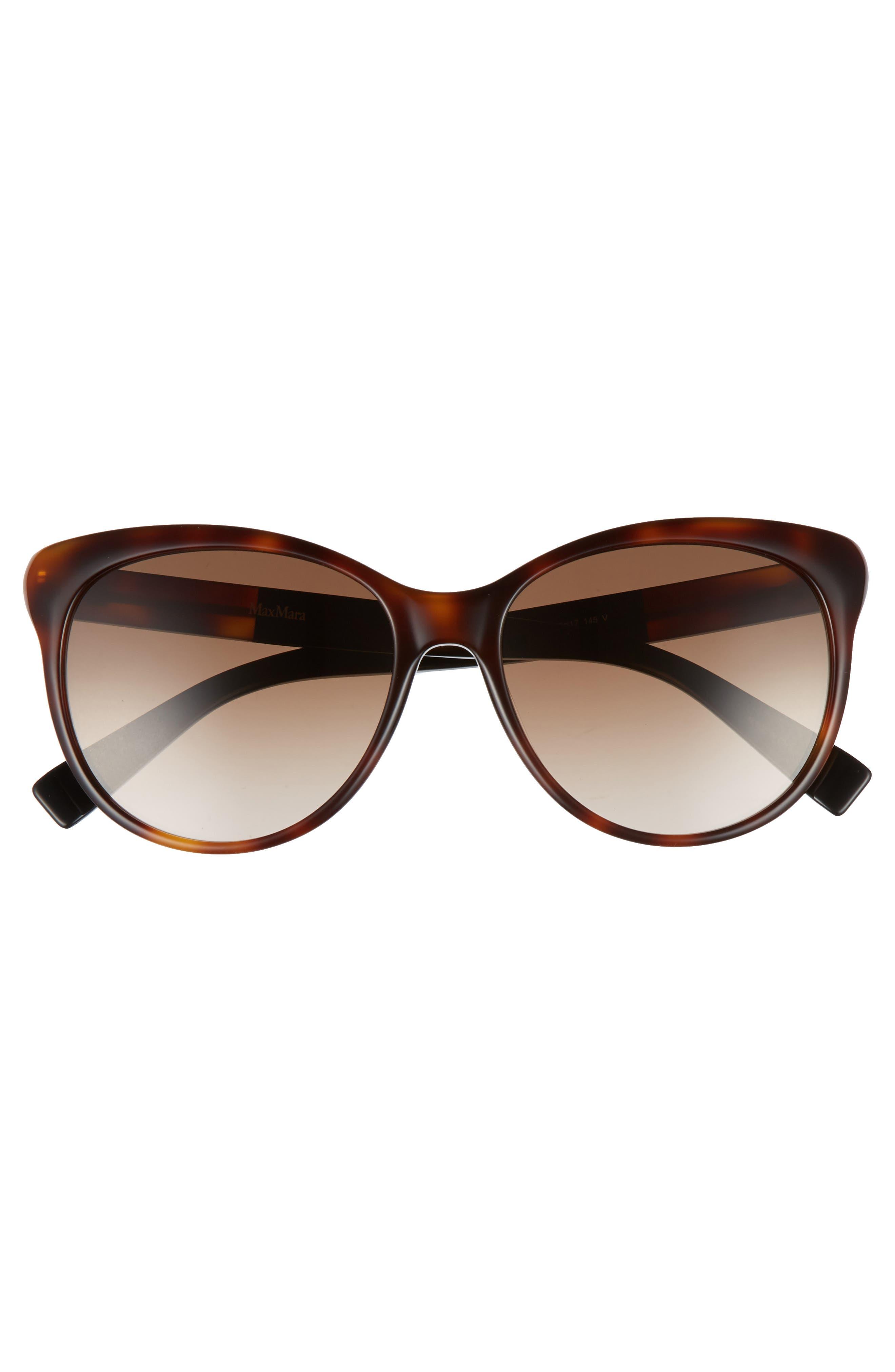 Cosy 56mm Gradient Cat Eye Sunglasses,                             Alternate thumbnail 3, color,                             Dark Havana