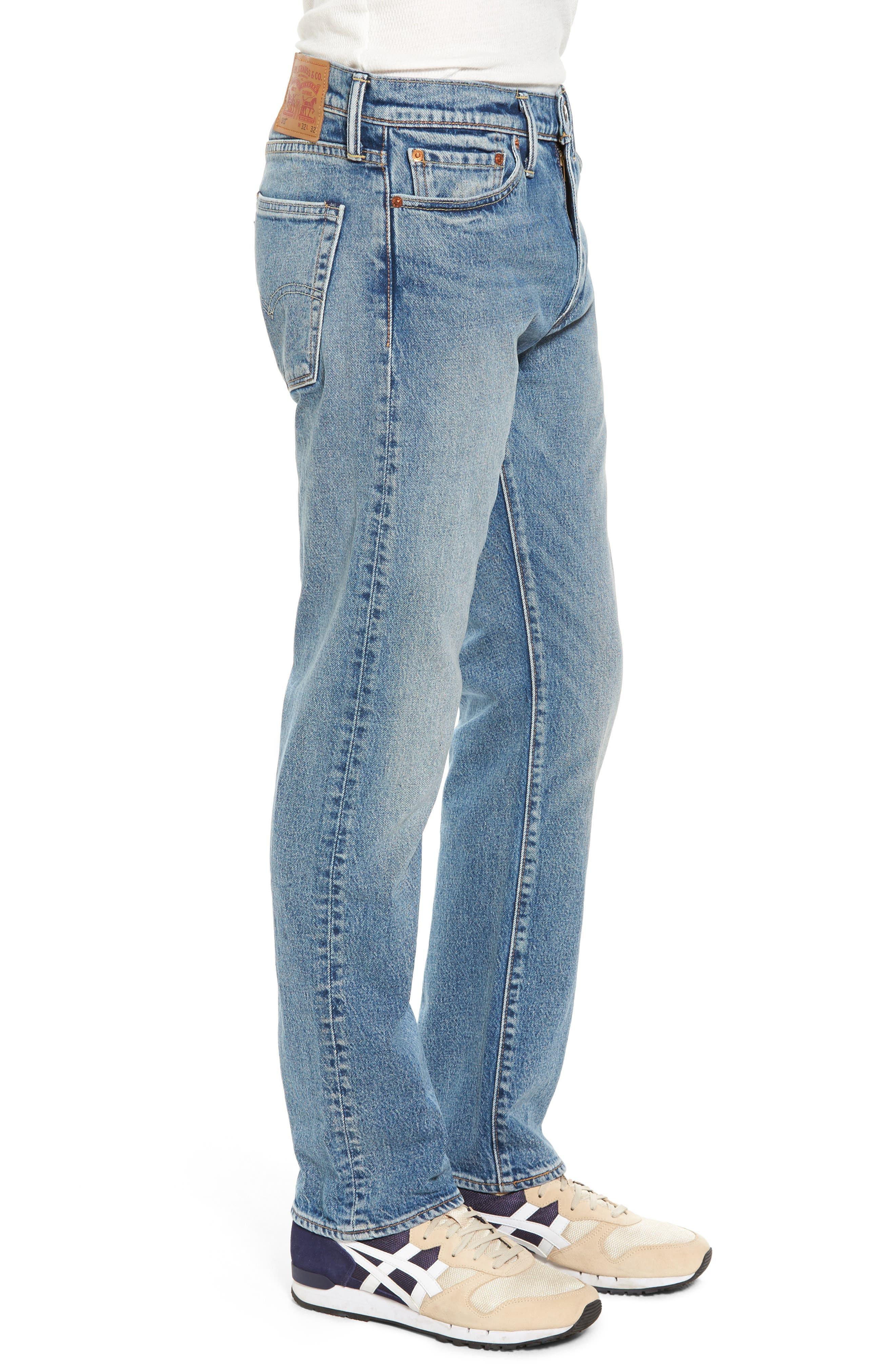 Alternate Image 3  - Levi's® 513™ Slim Straight Leg Jeans (Light Blue Rolf)