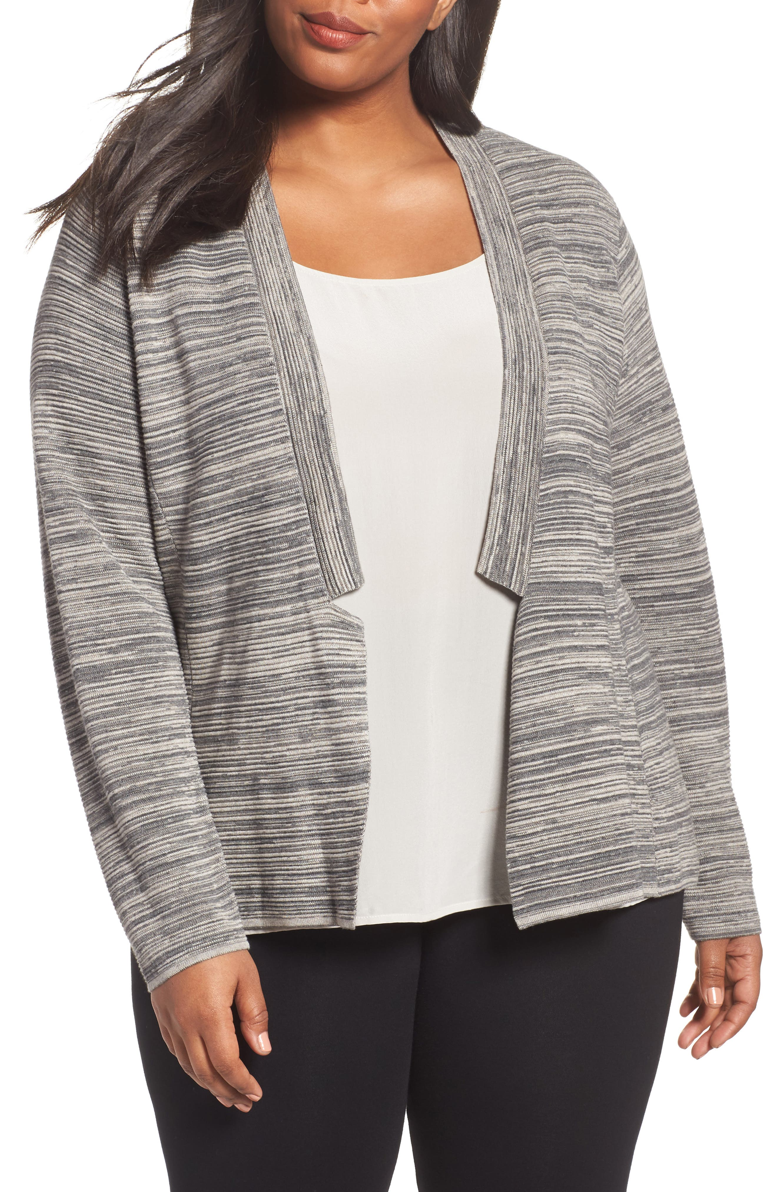 Eileen Fisher Tencel® & Organic Cotton Cardigan (Plus Size)