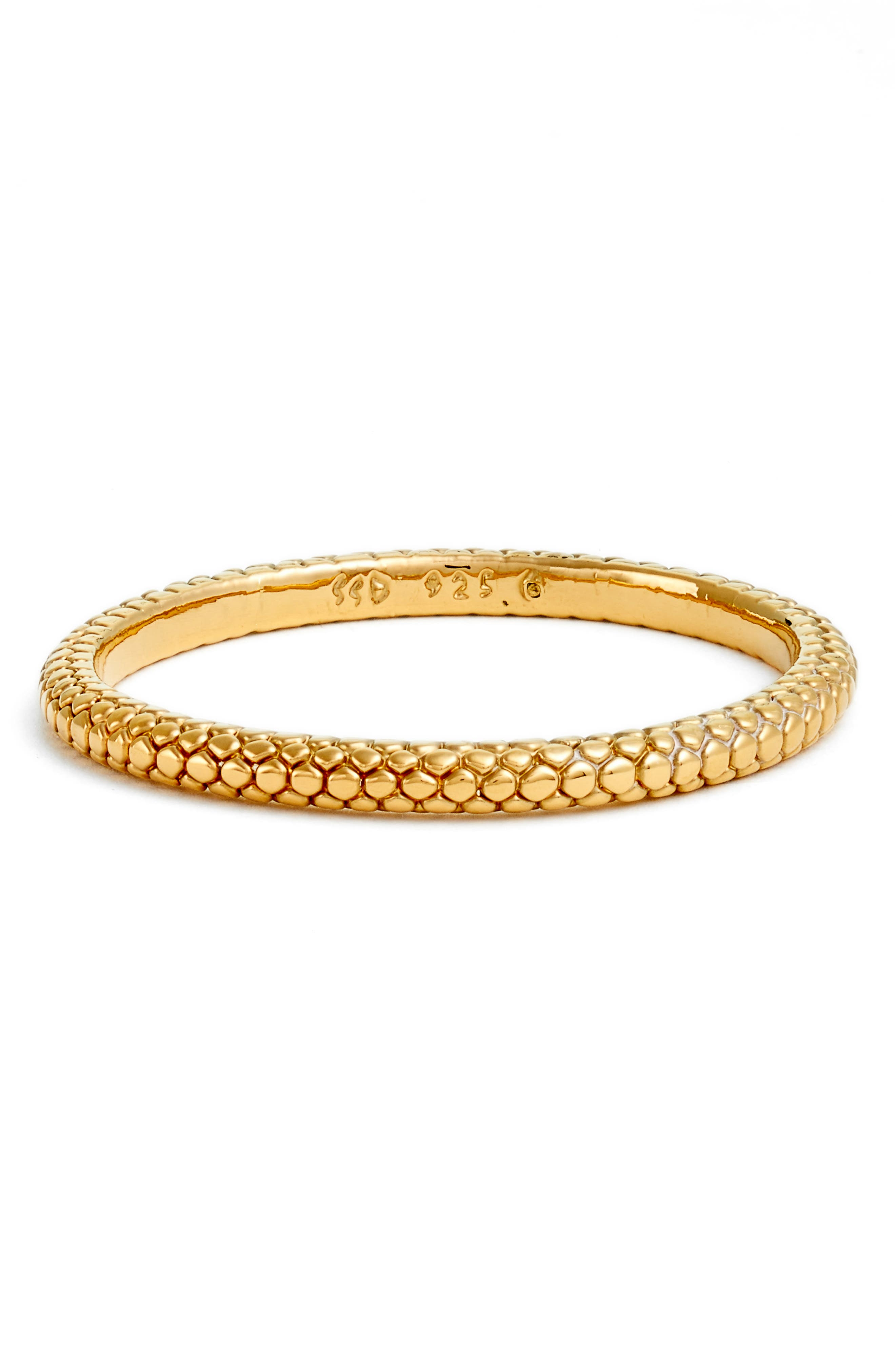 Simon Sebbag Thin Pebble Texture Vermeil Bangle