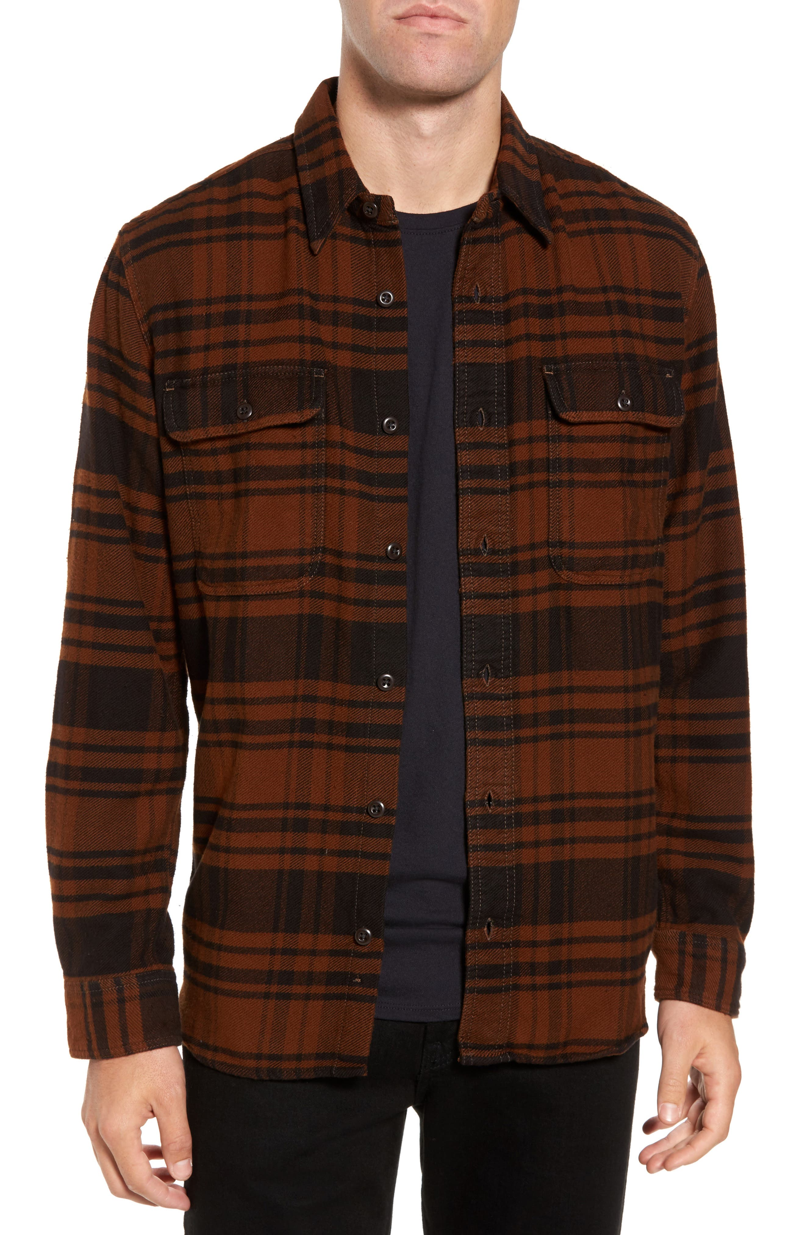 Filson 'Vintage Flannel' Regular Fit Plaid Cotton Shirt