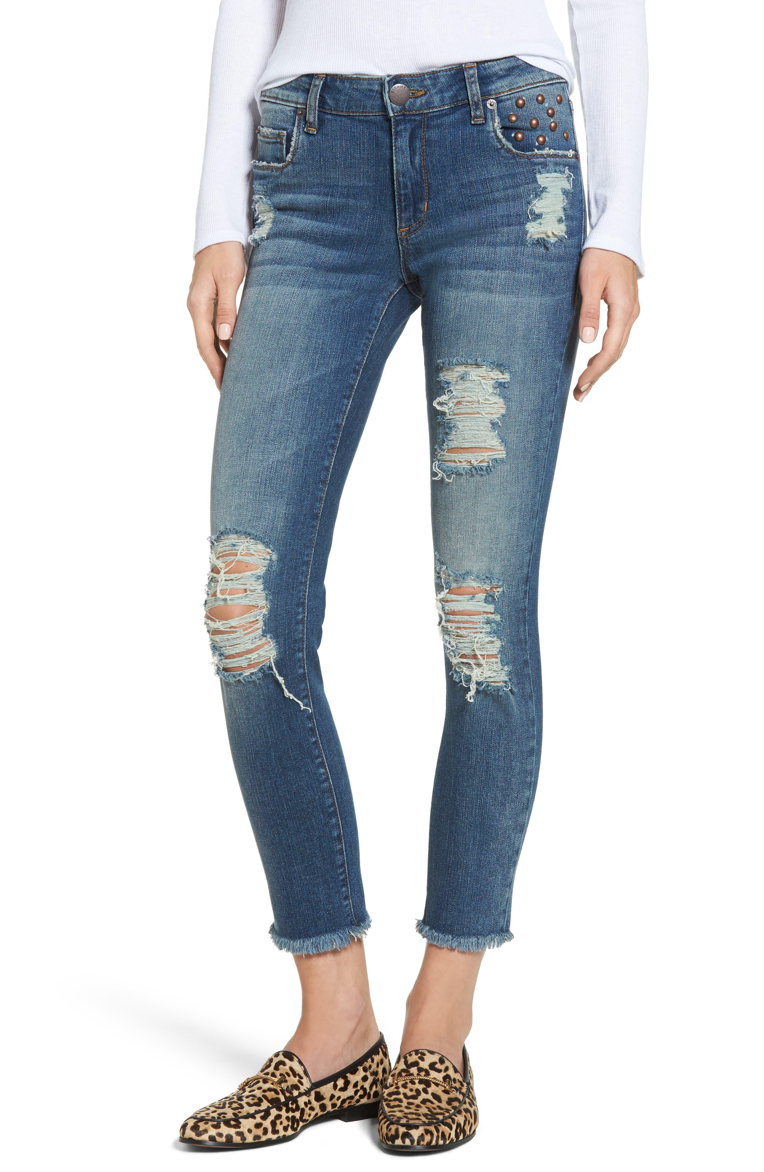 STS Blue Taylor Fray Hem Straight Leg Jeans (Hiltop)