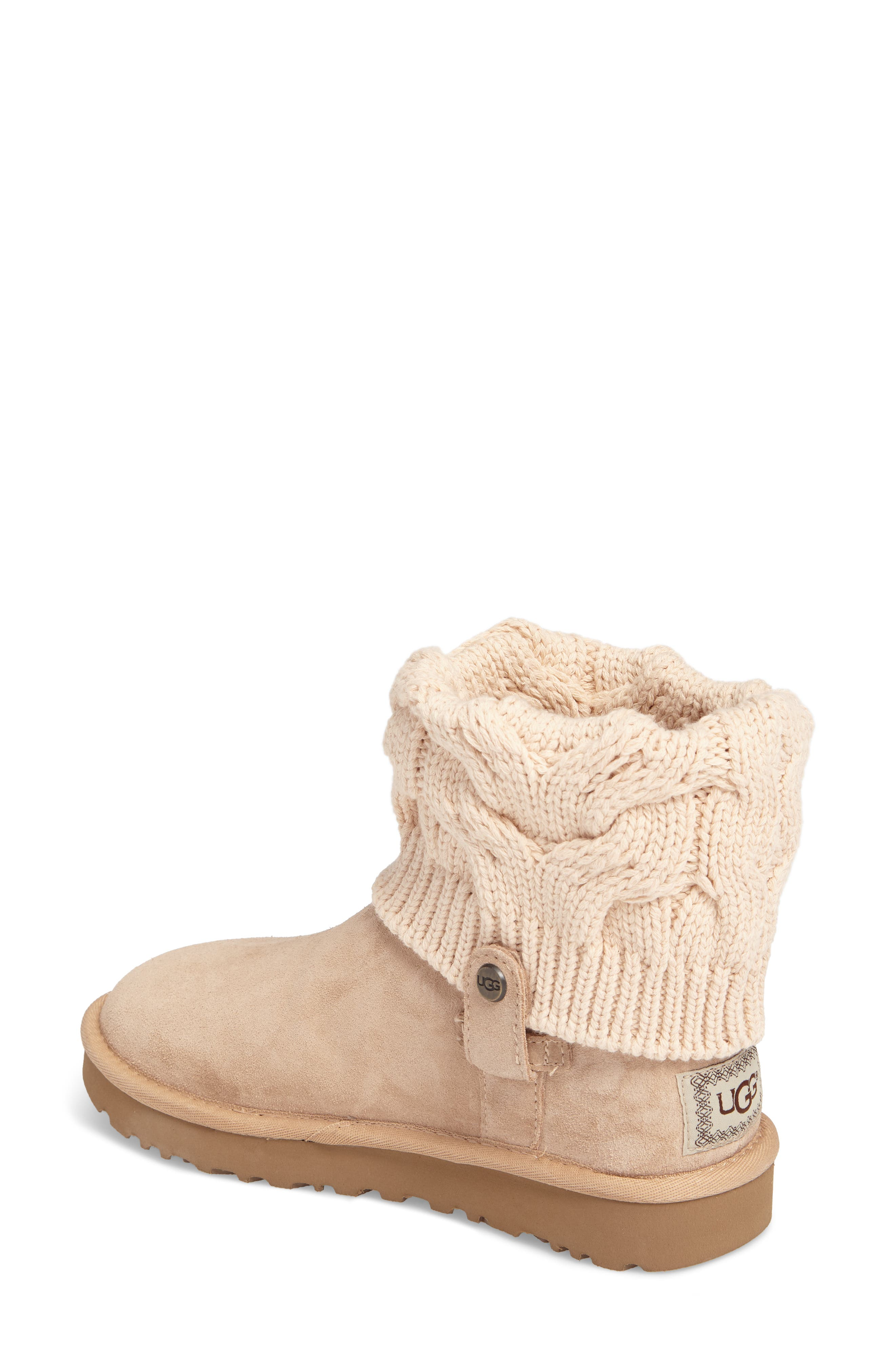 Alternate Image 2  - UGG® Saela Knit Cuff Boot (Women)