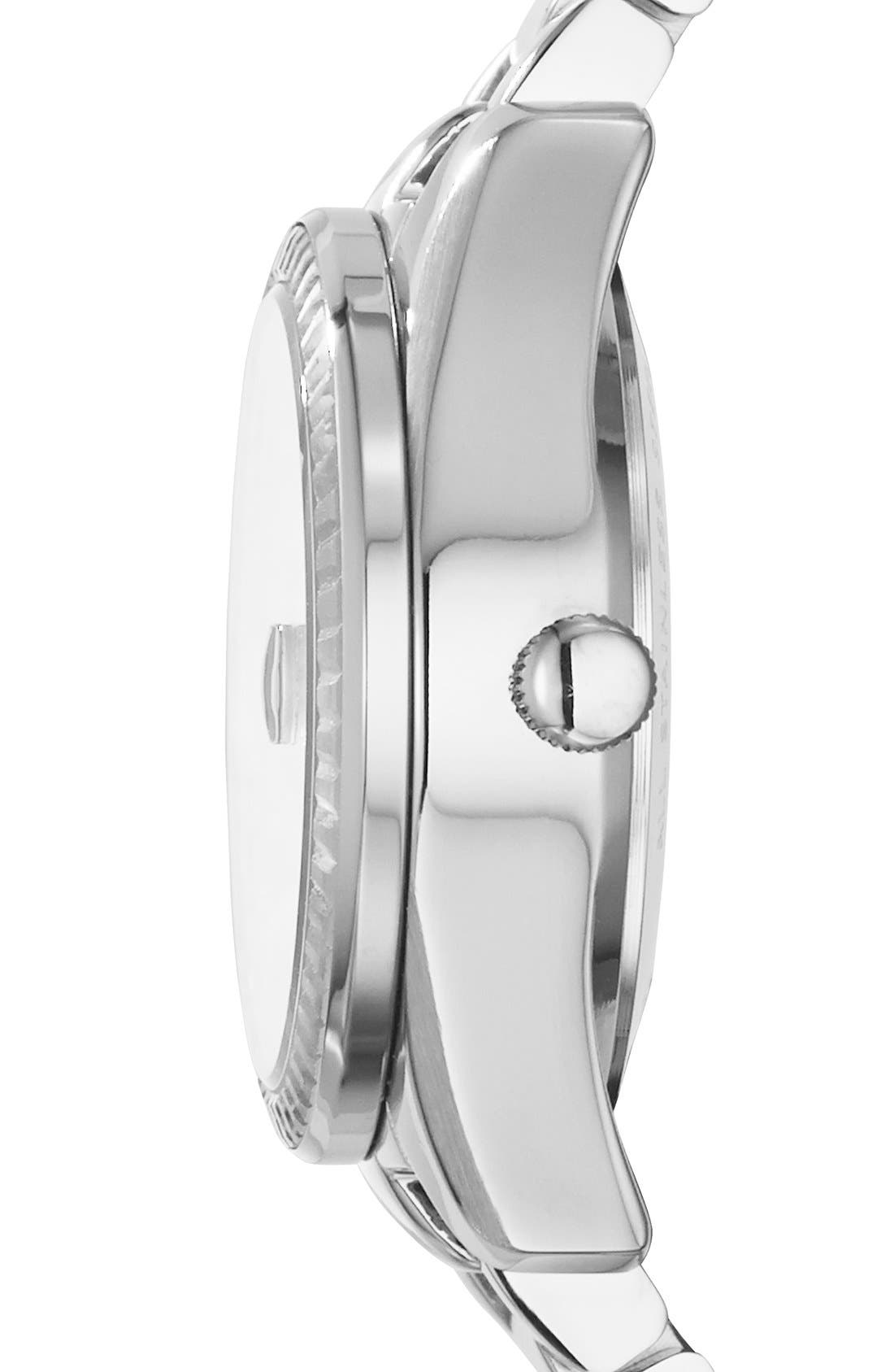 Alternate Image 2  - Fossil 'Perfect Boyfriend' Mirrored Dial Bracelet Watch, 39mm