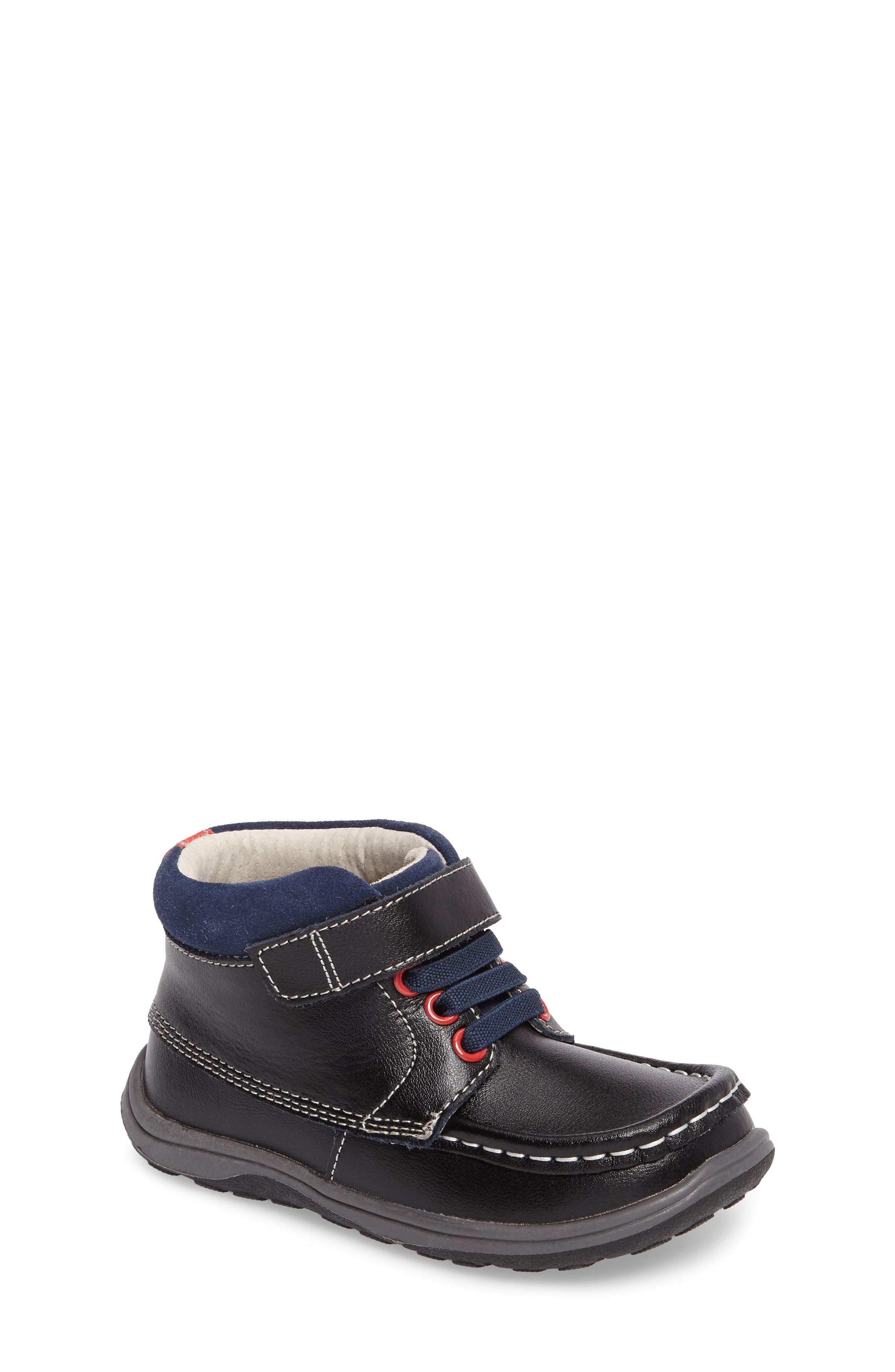 Alternate Image 1 Selected - See Kai Run Owen High Top Sneaker Bootie (Baby, Walker & Toddler)