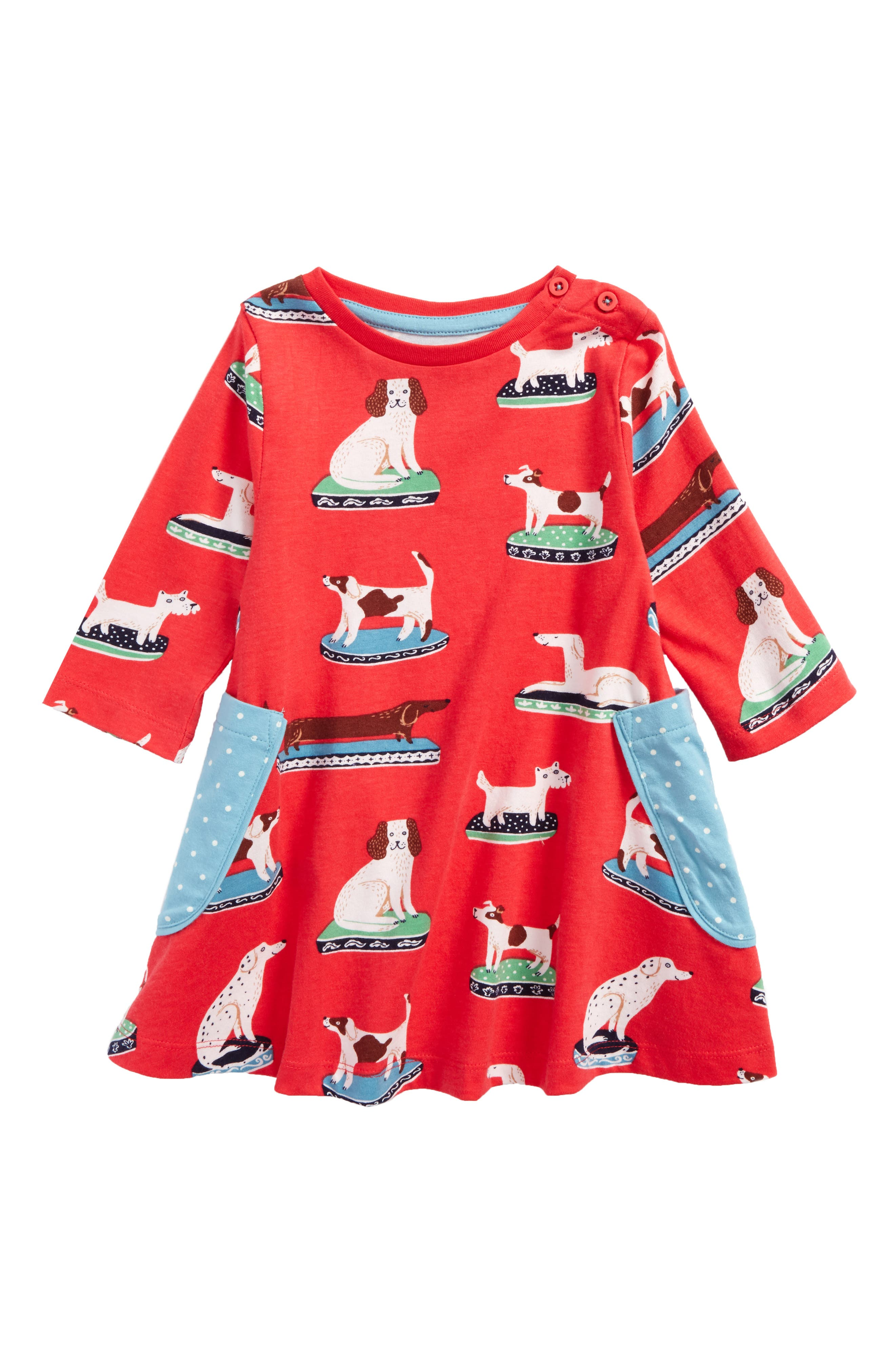 Print Tunic,                         Main,                         color, Pink Berry China Dogs