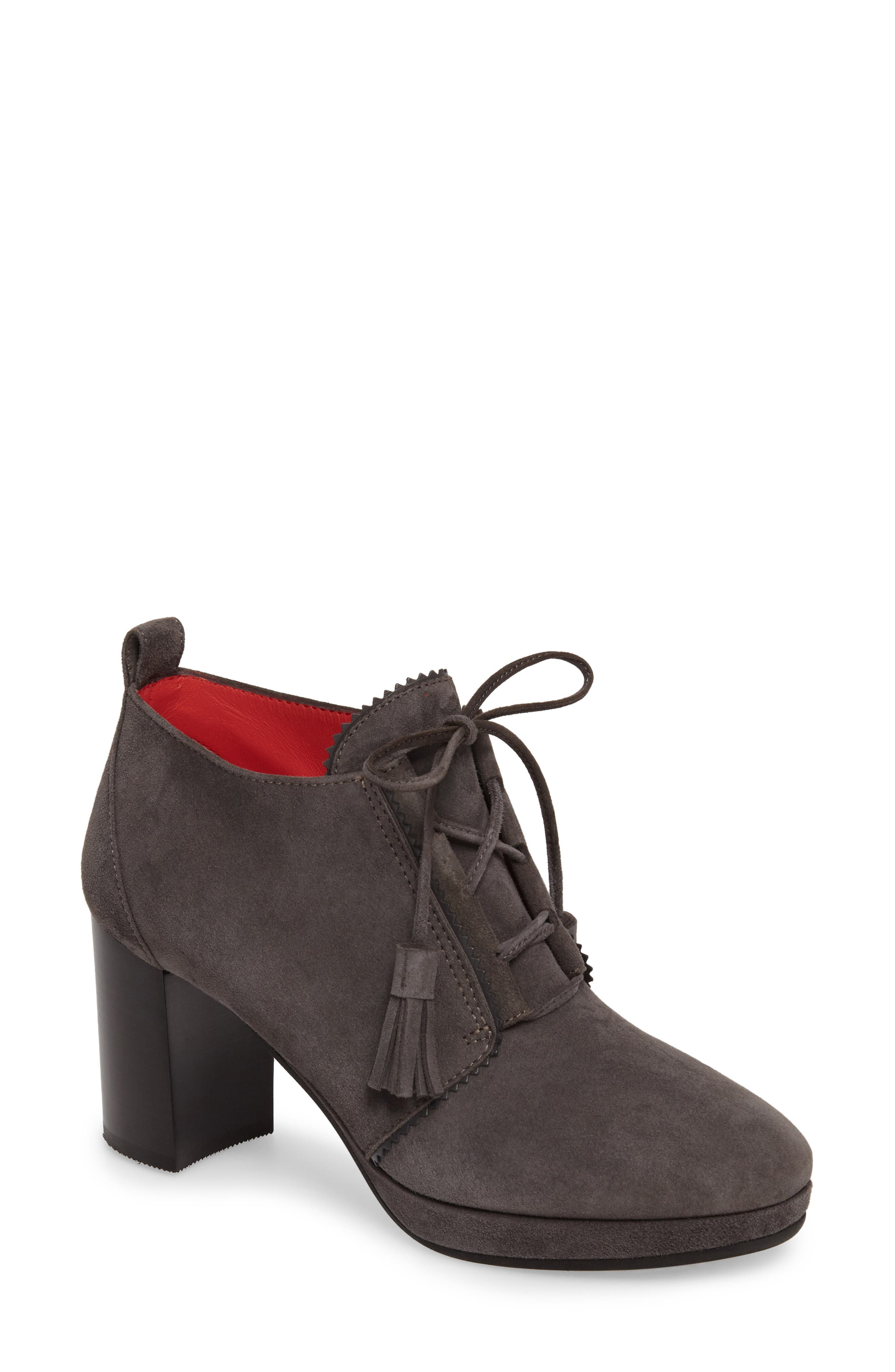 Main Image - Pas de Rouge Lace-Up Platform Bootie (Women)