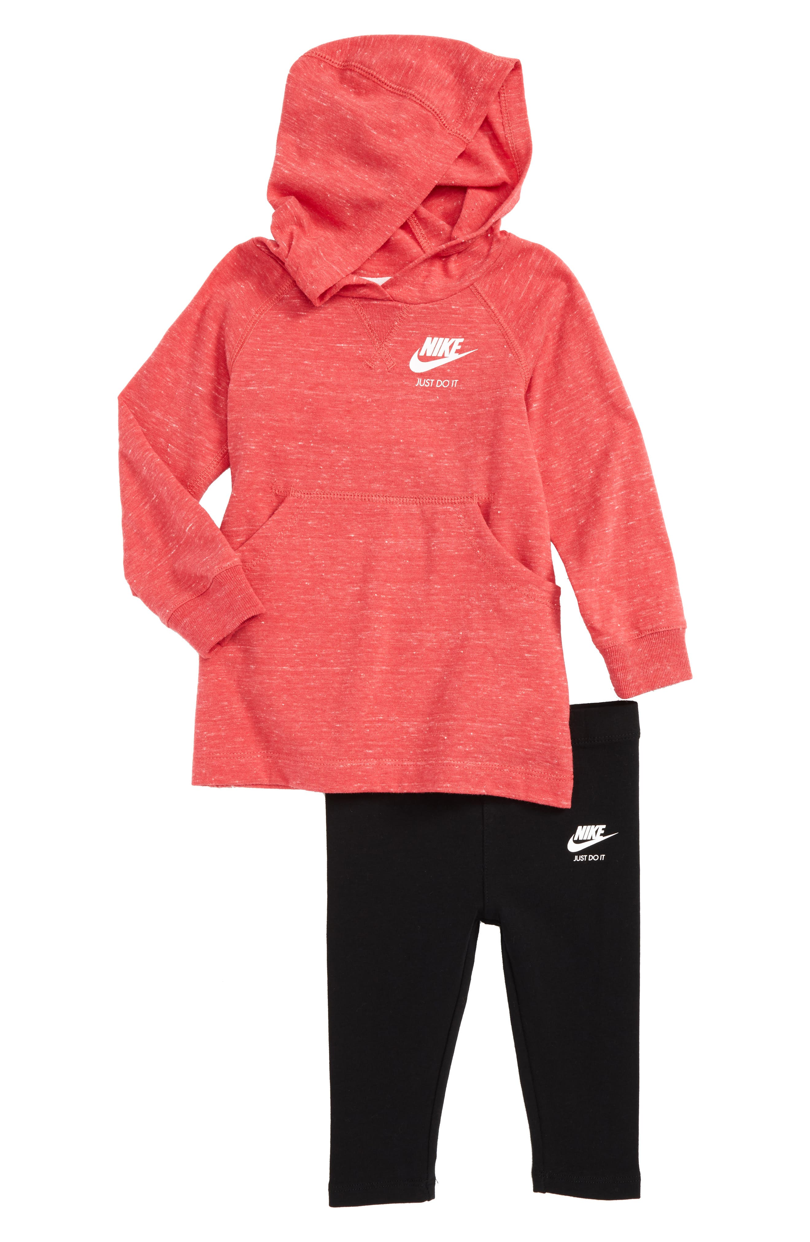 Alternate Image 1 Selected - Nike Hoodie & Leggings Set (Baby Girls)