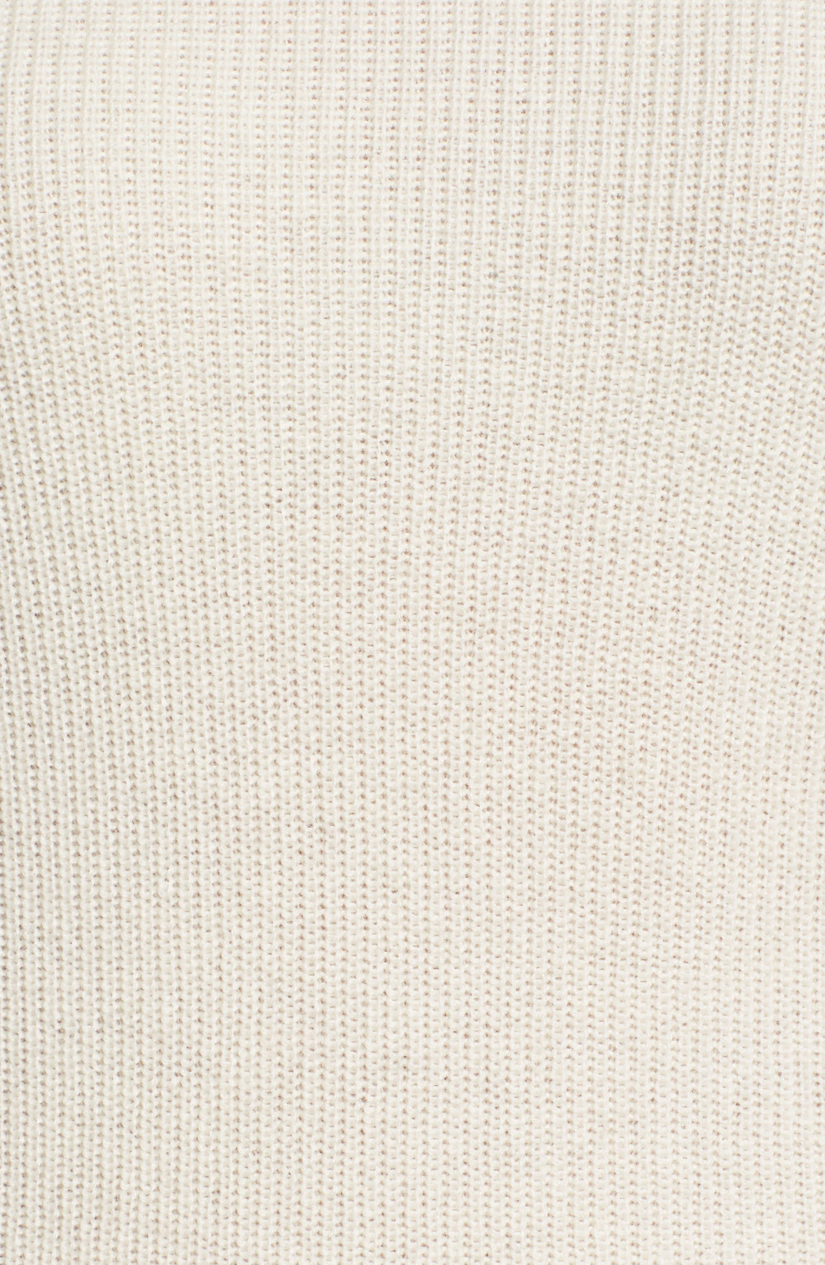Cold Shoulder Cashmere Sweater,                             Alternate thumbnail 5, color,                             Milk