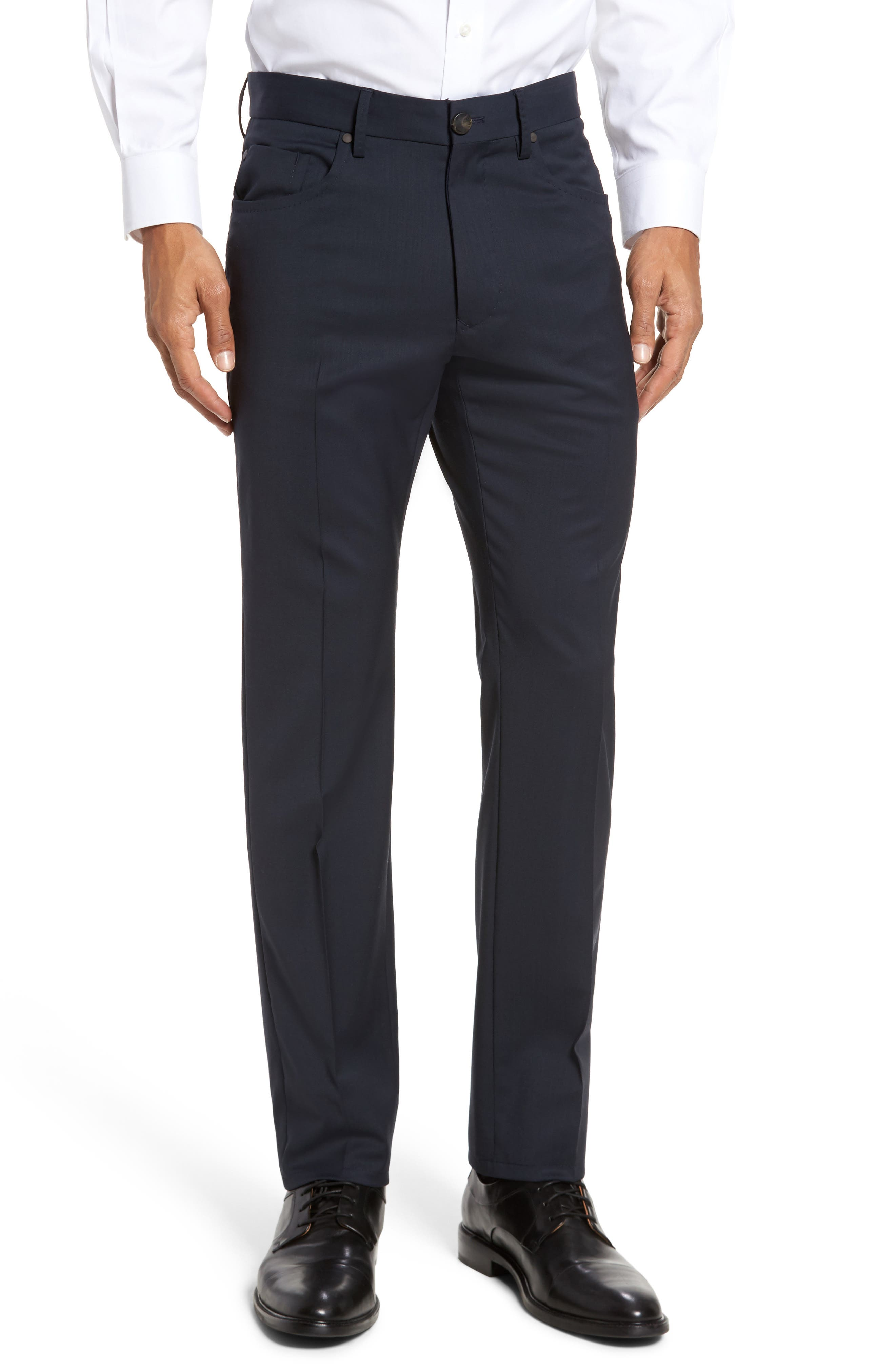 Alternate Image 1 Selected - Incotex Five-Pocket Stretch Wool Pants