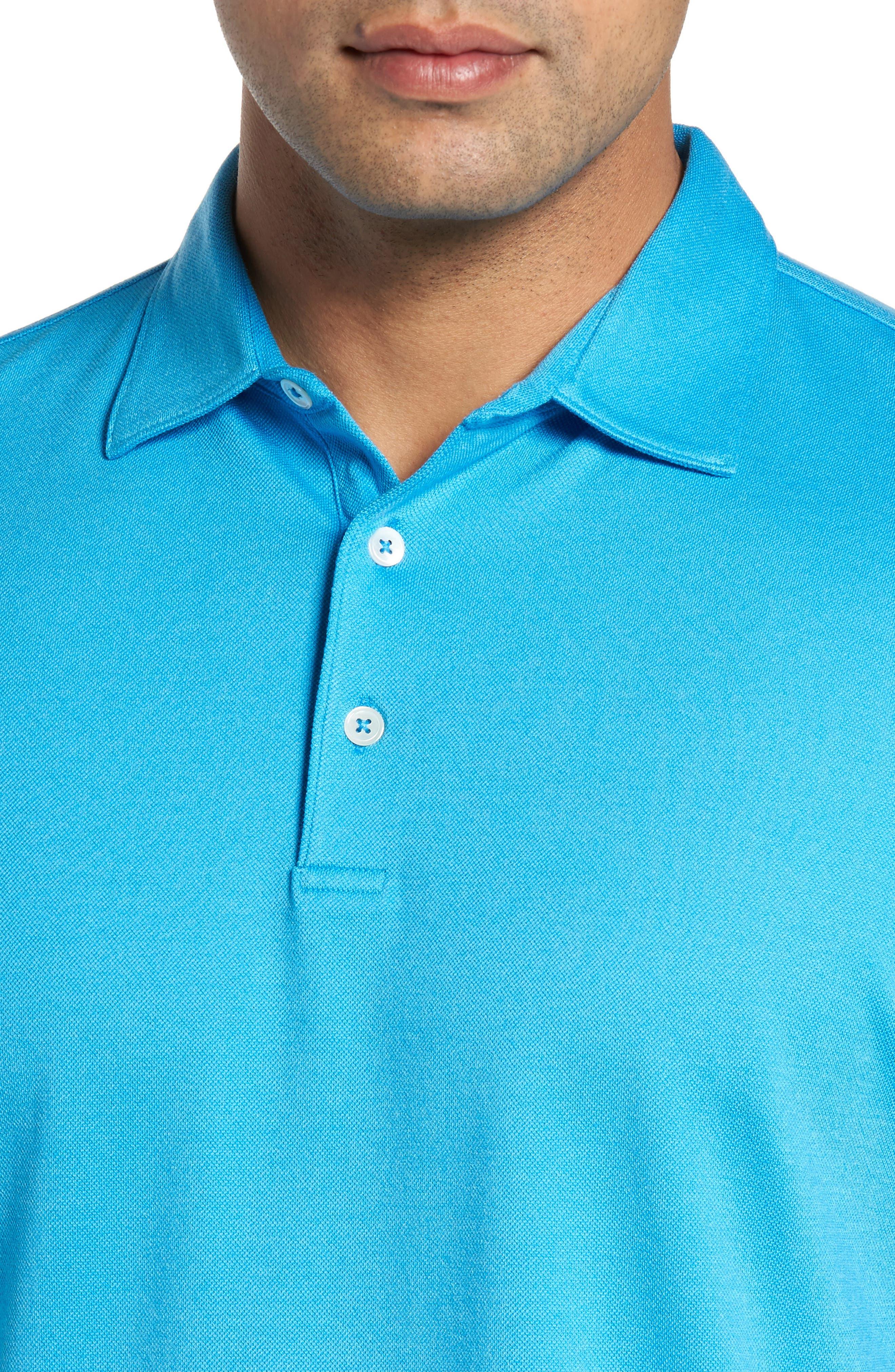 The Perfect Piqué Polo,                             Alternate thumbnail 4, color,                             Onda Blue