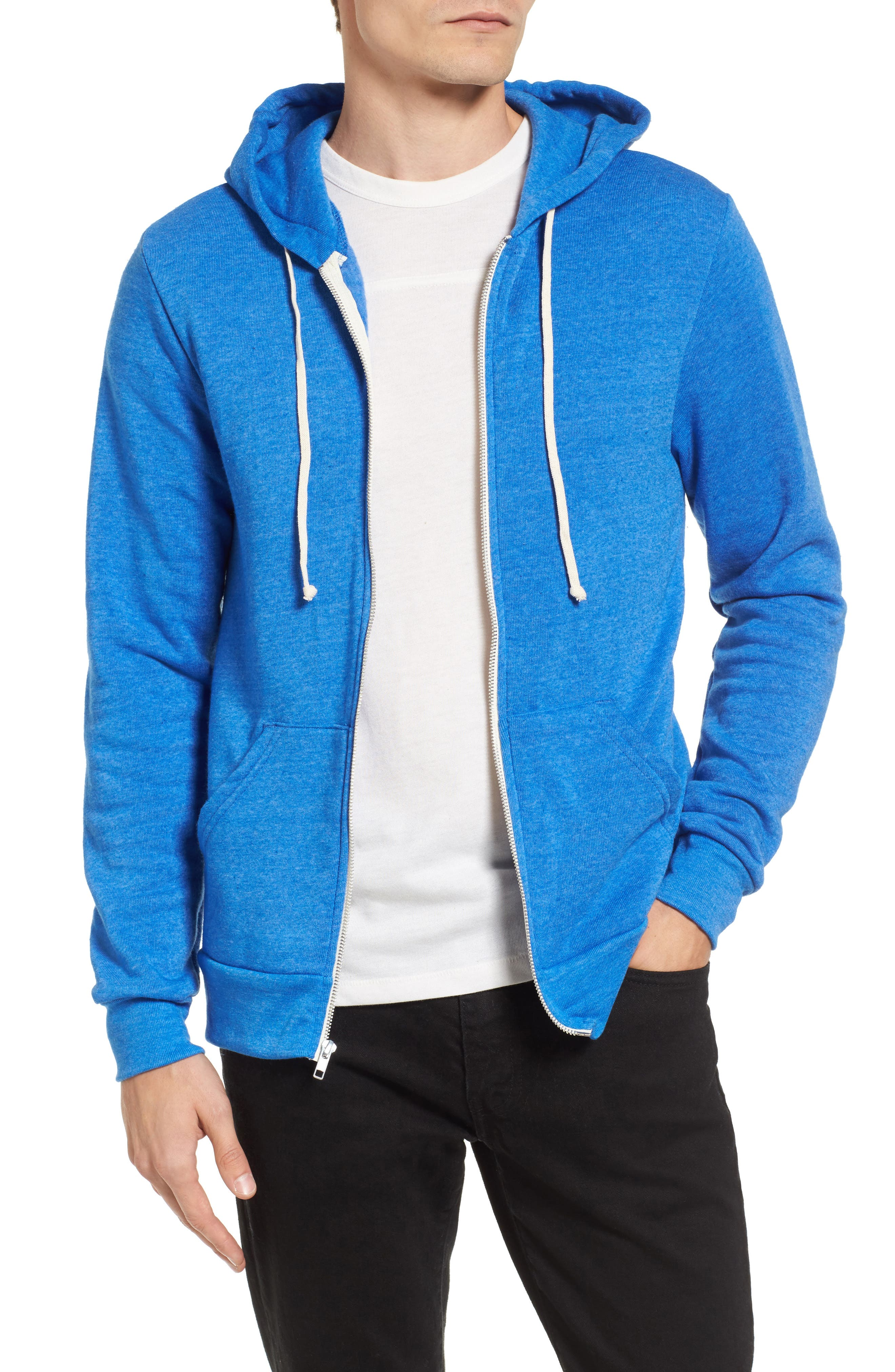 'Rocky' Trim Fit Hoodie,                             Main thumbnail 1, color,                             Eco True Pacific Blue
