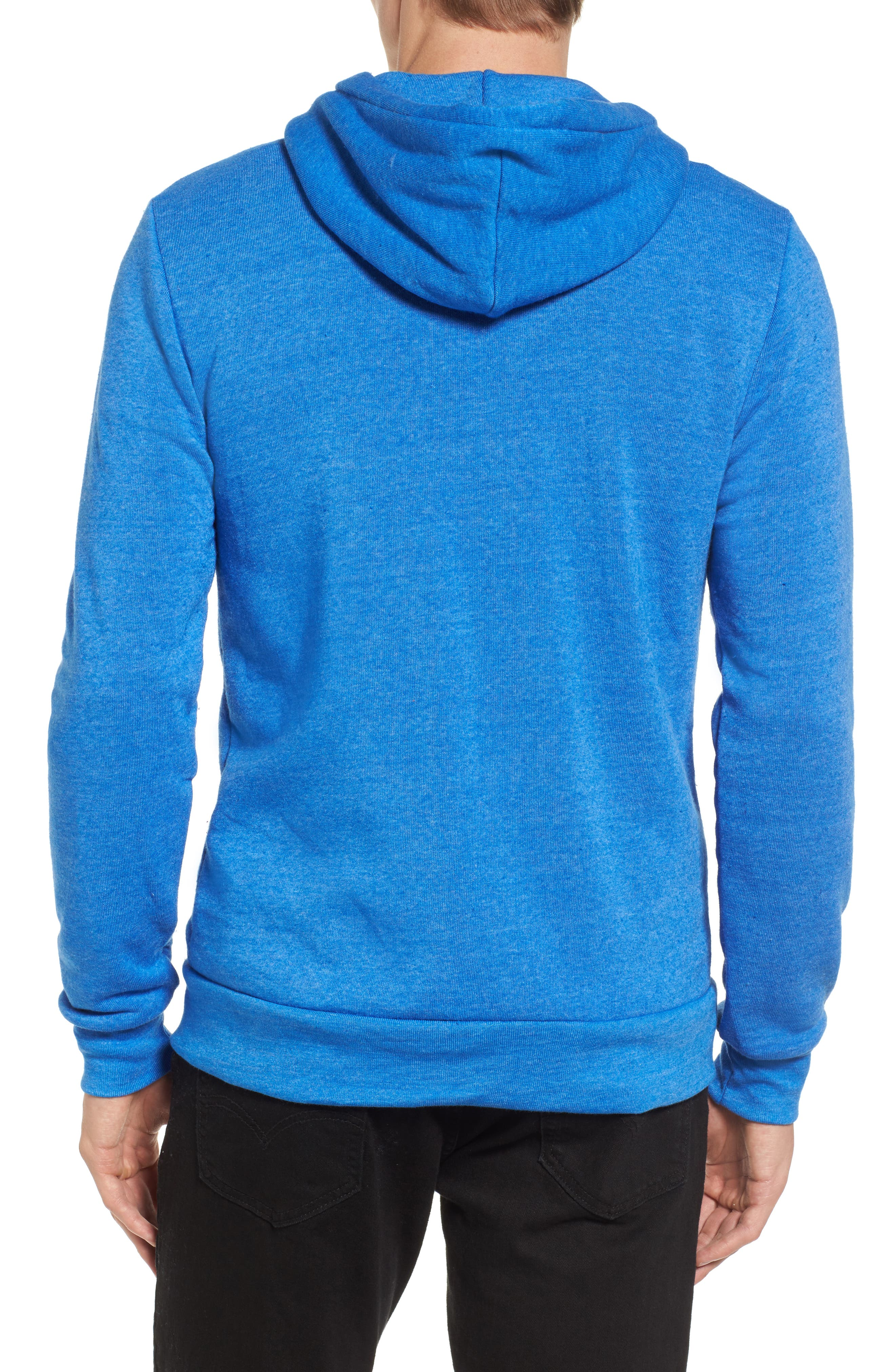 'Rocky' Trim Fit Hoodie,                             Alternate thumbnail 2, color,                             Eco True Pacific Blue