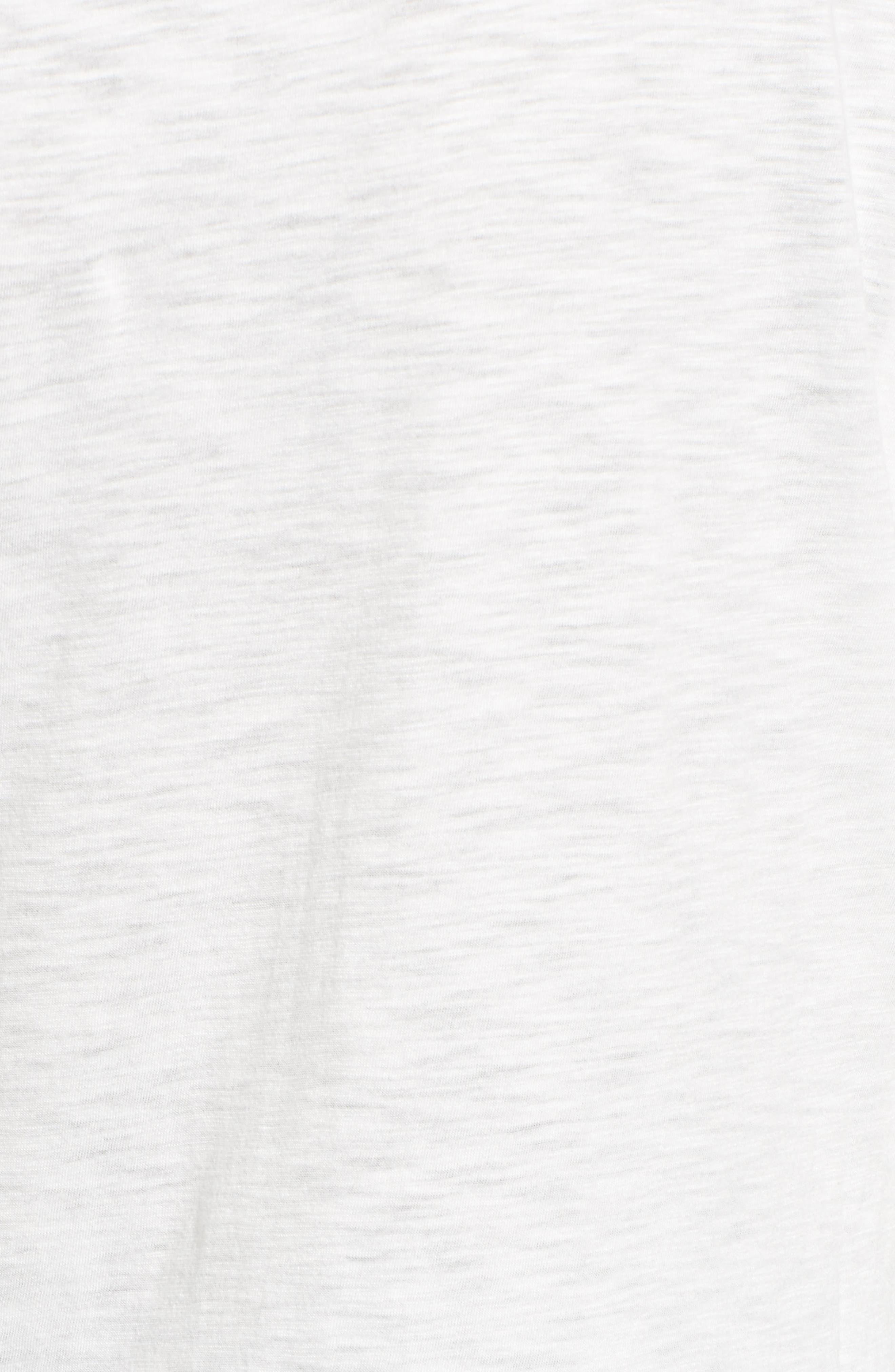 Twist Hem Tee,                             Alternate thumbnail 5, color,                             White