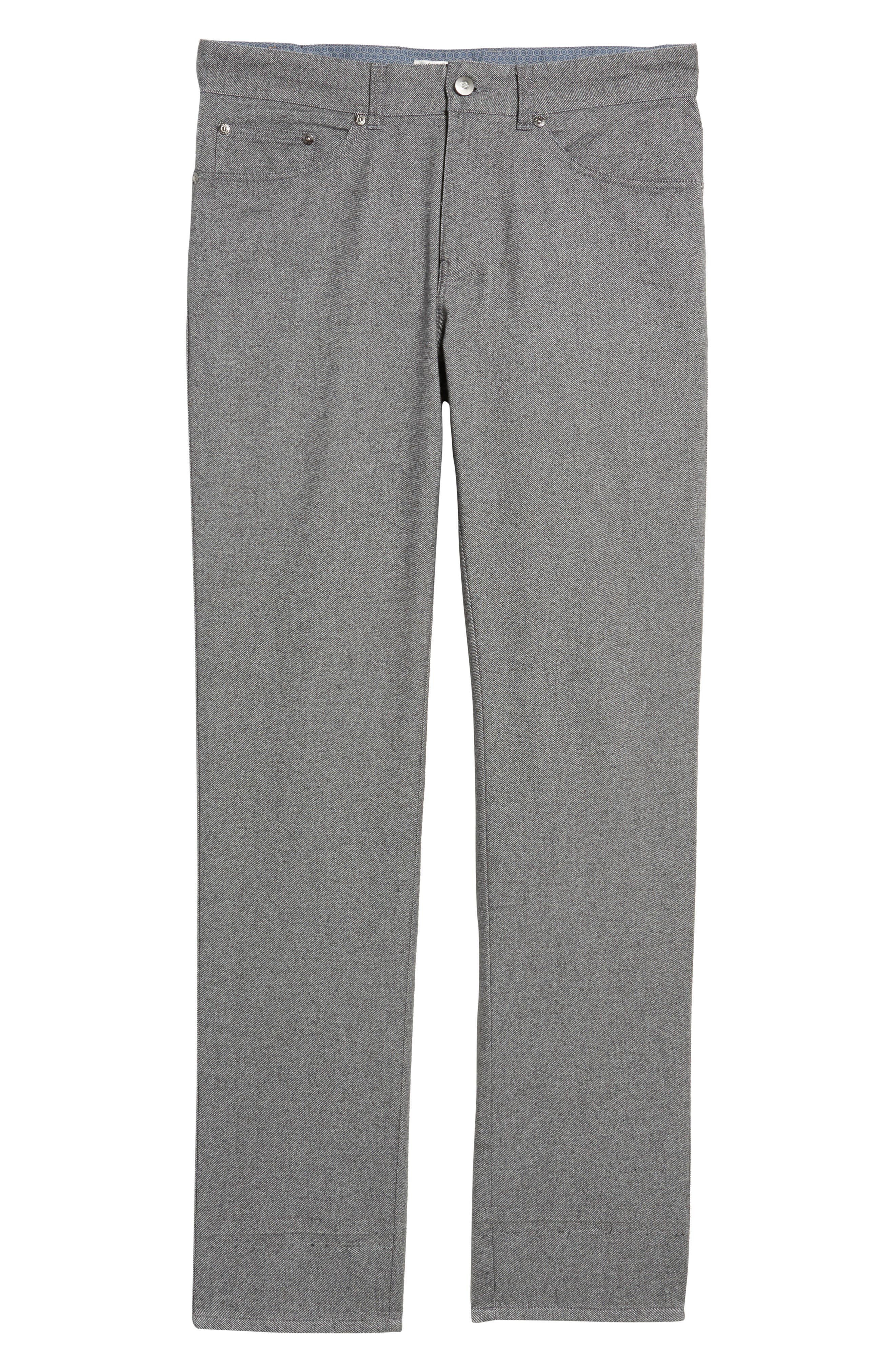 Alternate Image 6  - Peter Millar Mountainside Flannel Five-Pocket Pants