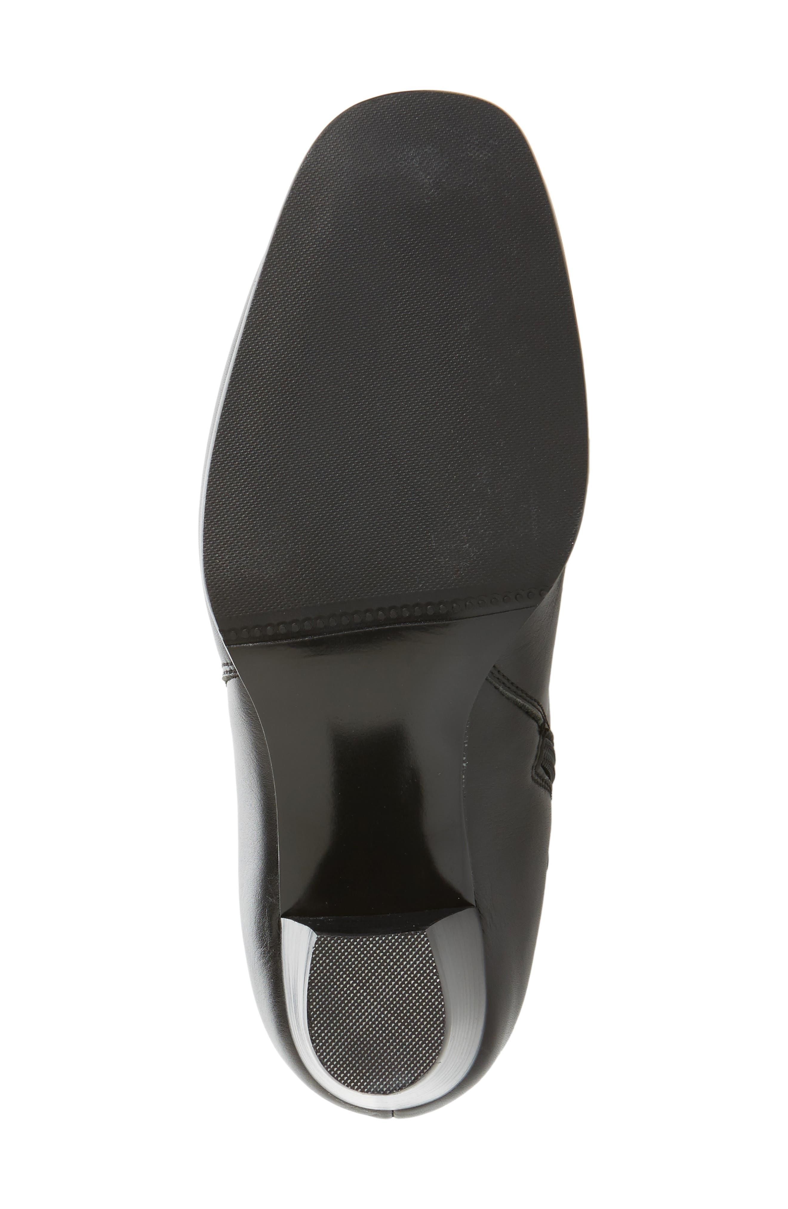 Bonita 18 Boot,                             Alternate thumbnail 6, color,                             Black Leather Fabric