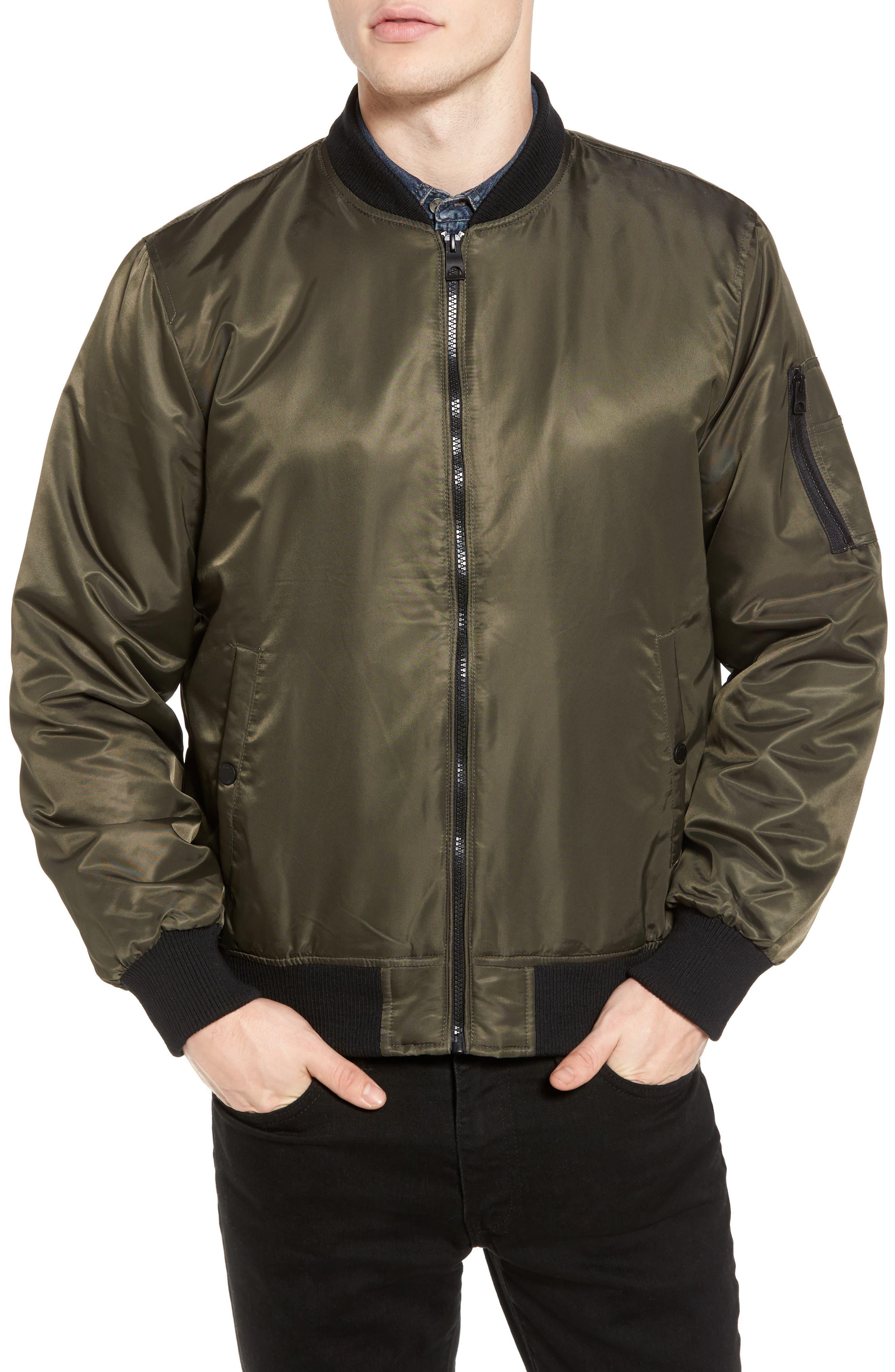 Alternate Image 4  - Black Rivet Water Resistant Hooded Satin Flight Jacket