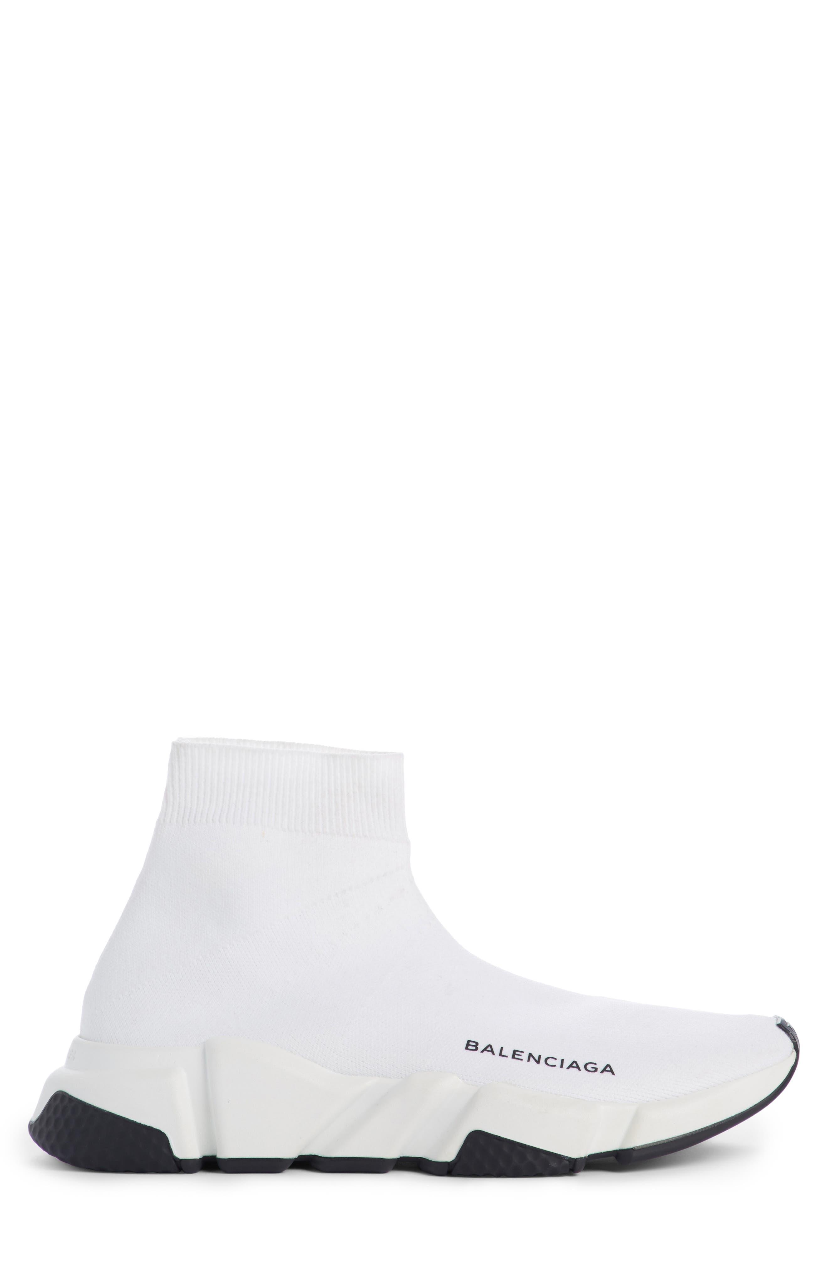 Speed Mid Sneaker,                             Alternate thumbnail 4, color,                             White