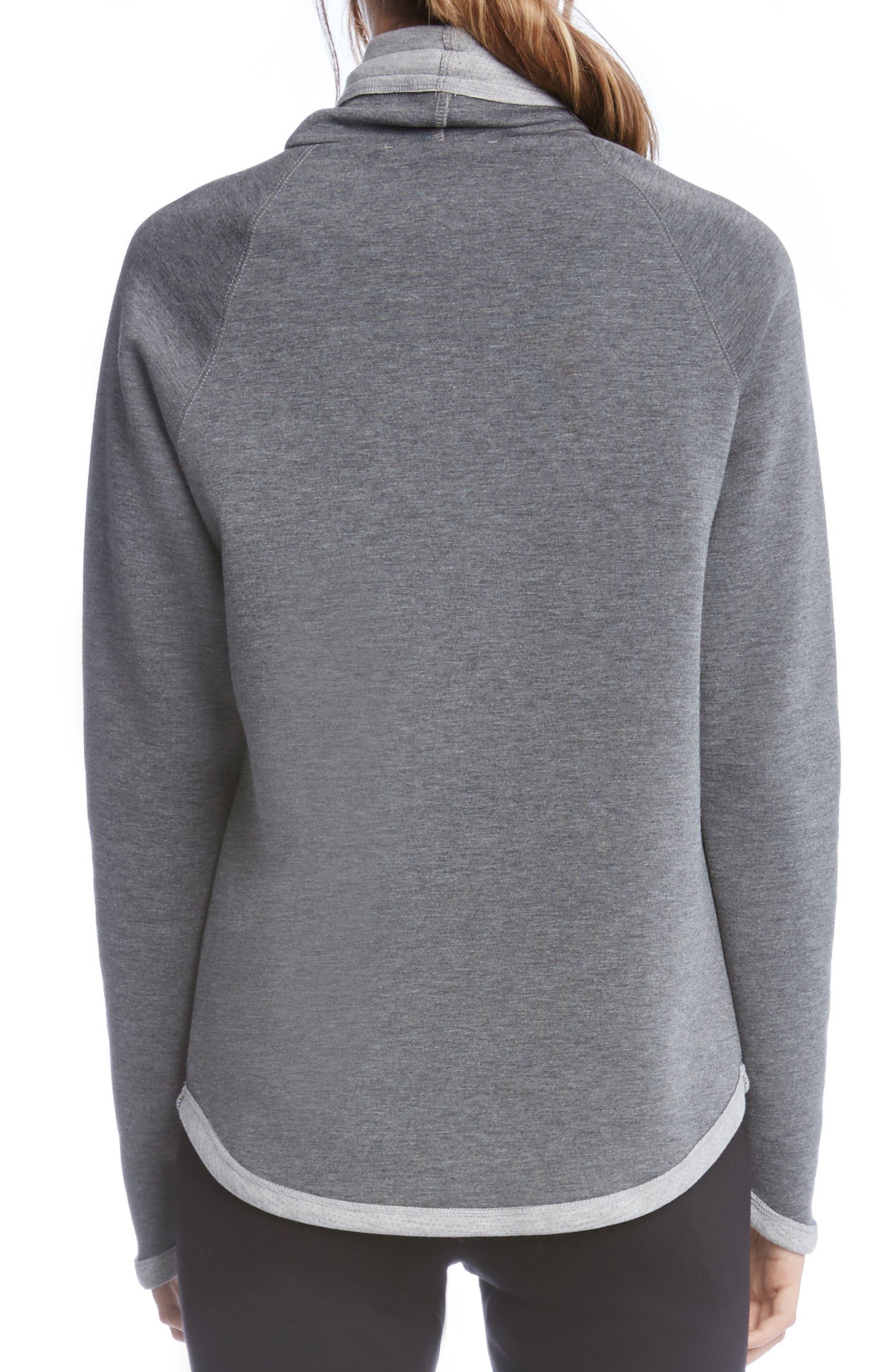 Alternate Image 3  - Karen Kane Drawstring Neck Contrast Trim Sweatshirt