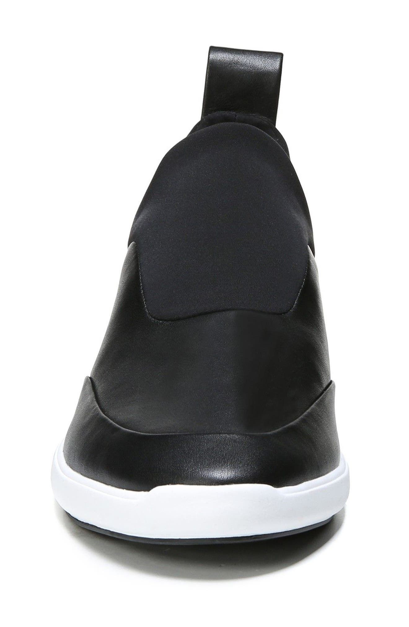 Mercer Slip-On Sneaker,                             Alternate thumbnail 4, color,                             Black Leather