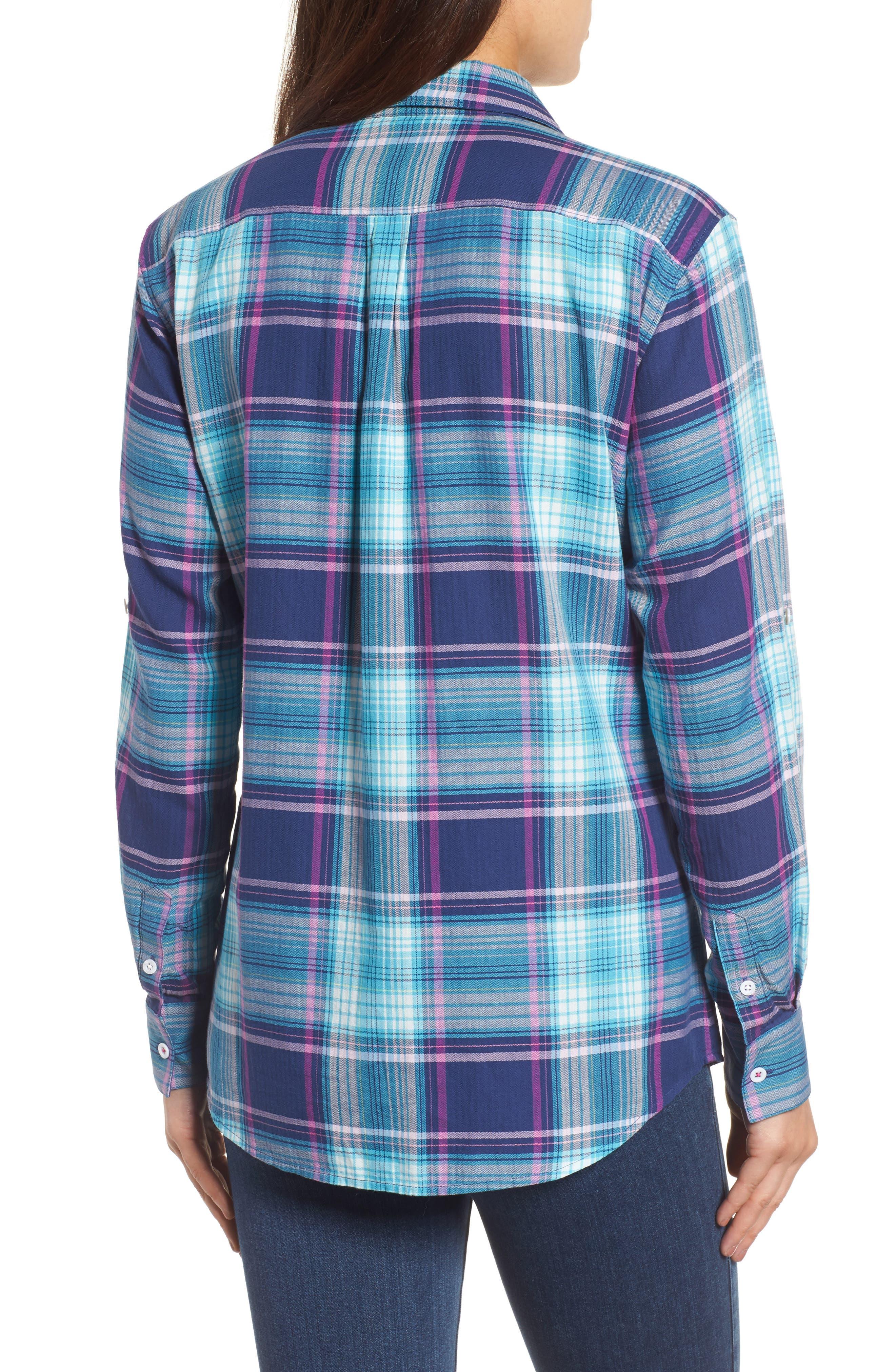 Play it Again Plaid Long Sleeve Shirt,                             Alternate thumbnail 2, color,                             Kingdom Blue