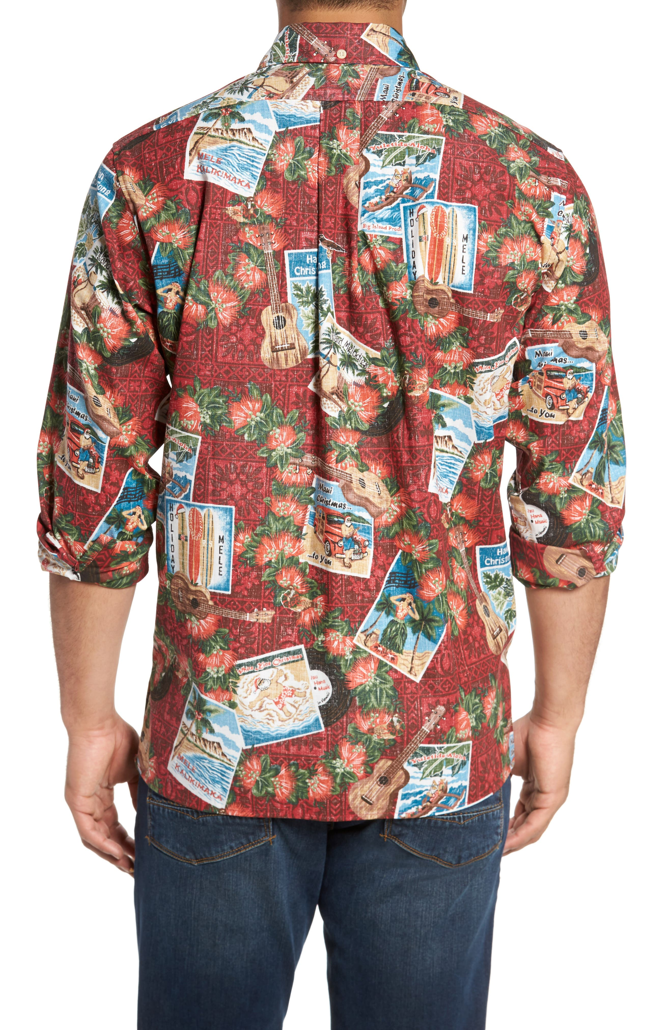 Alternate Image 2  - Reyn Spooner Hawaiian Christmas 2017 Sport Shirt