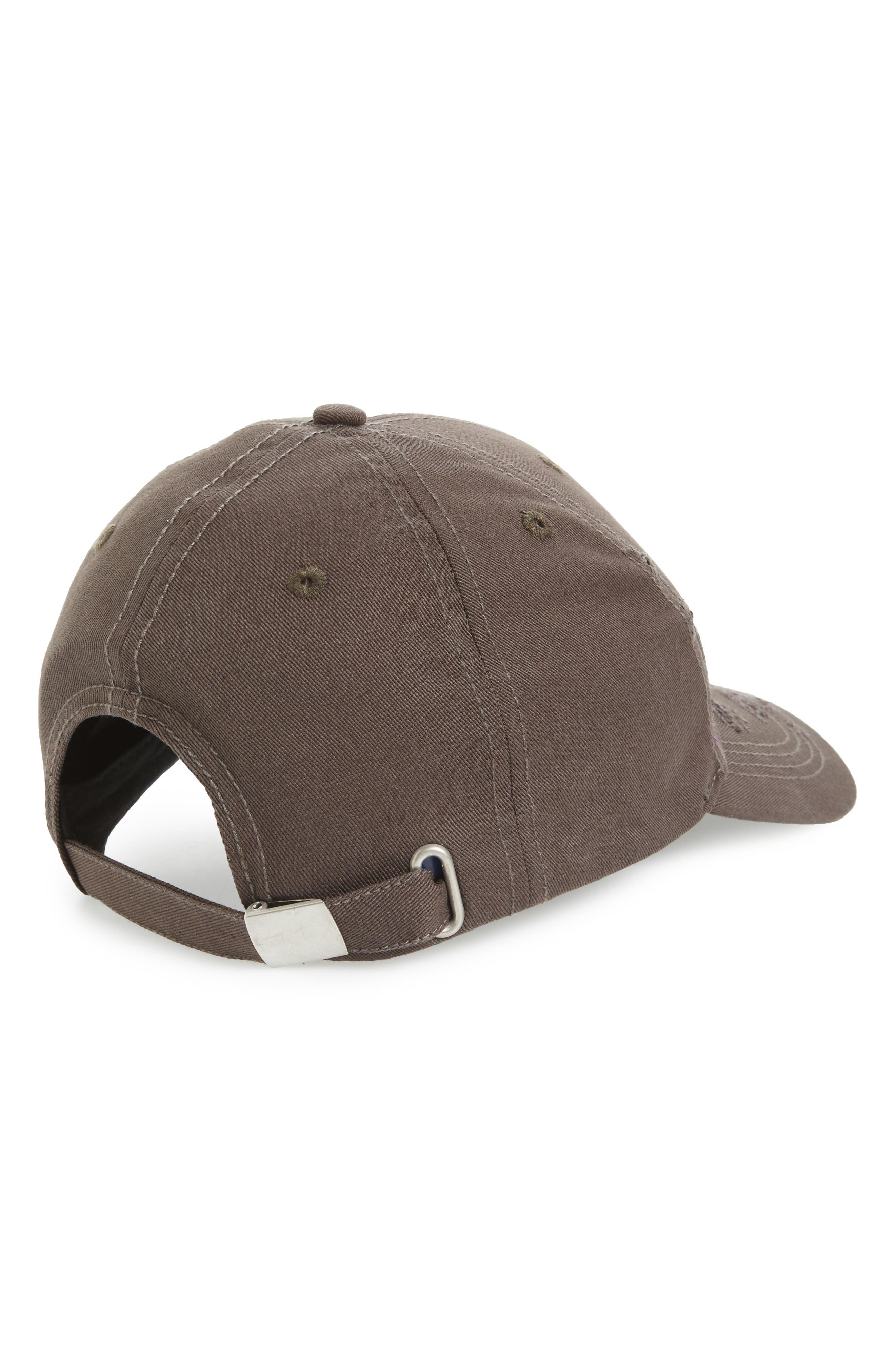 Distressed Baseball Cap,                             Alternate thumbnail 2, color,                             Washed Black