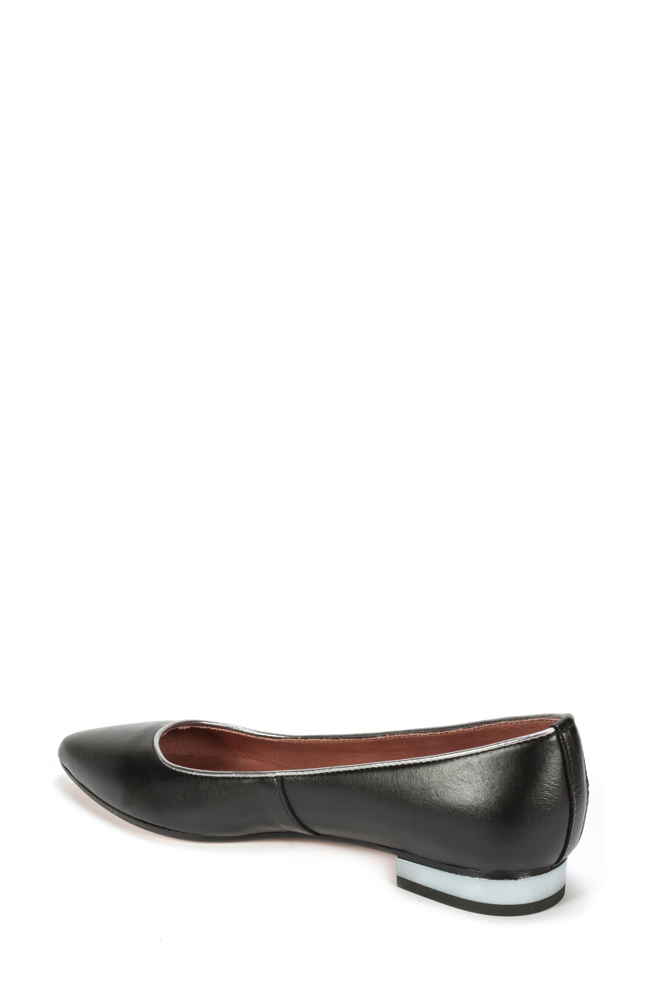 Karolina Flat,                             Alternate thumbnail 2, color,                             Black Leather