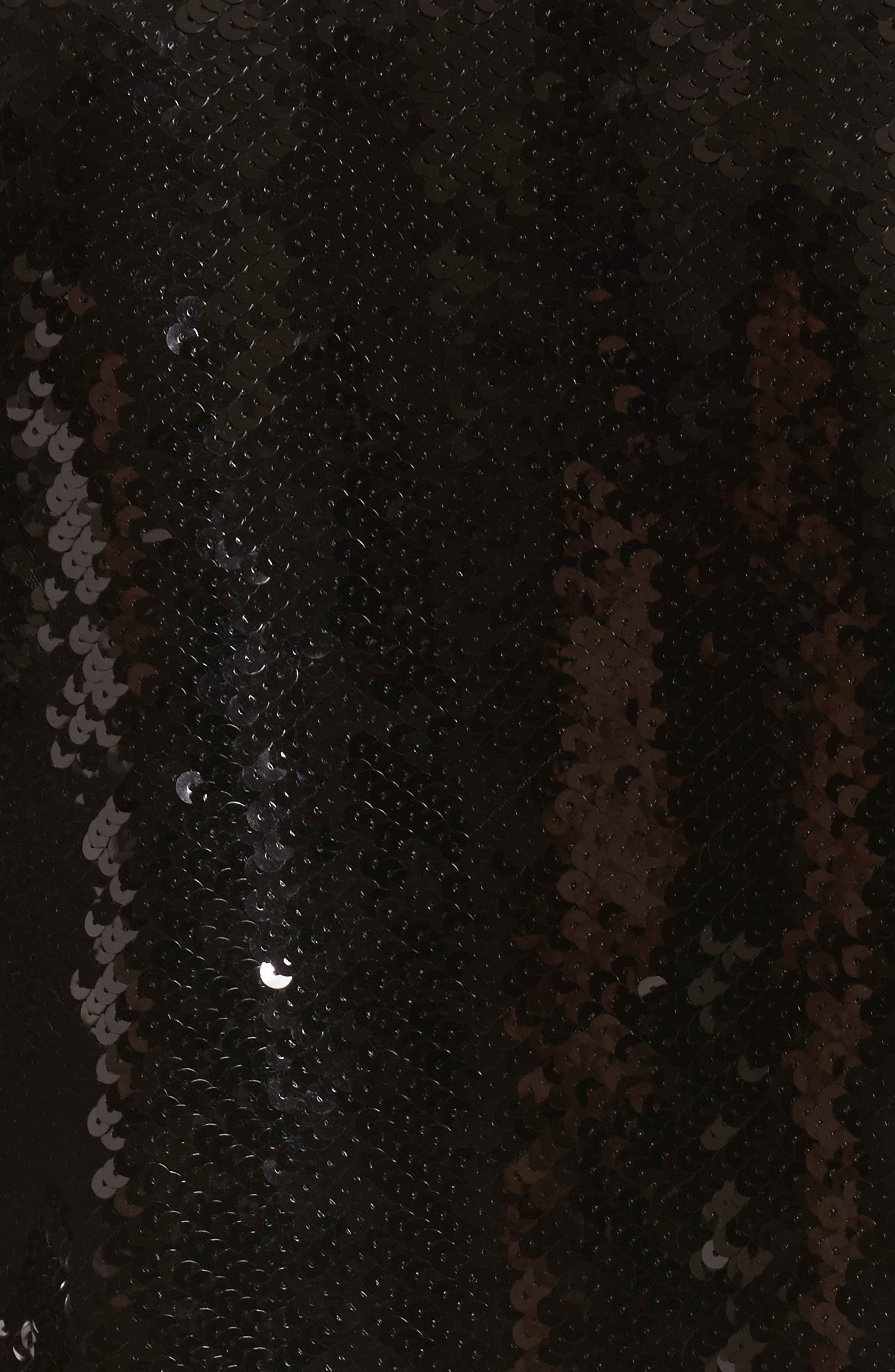 Monica Sequin Dress,                             Alternate thumbnail 5, color,                             Black