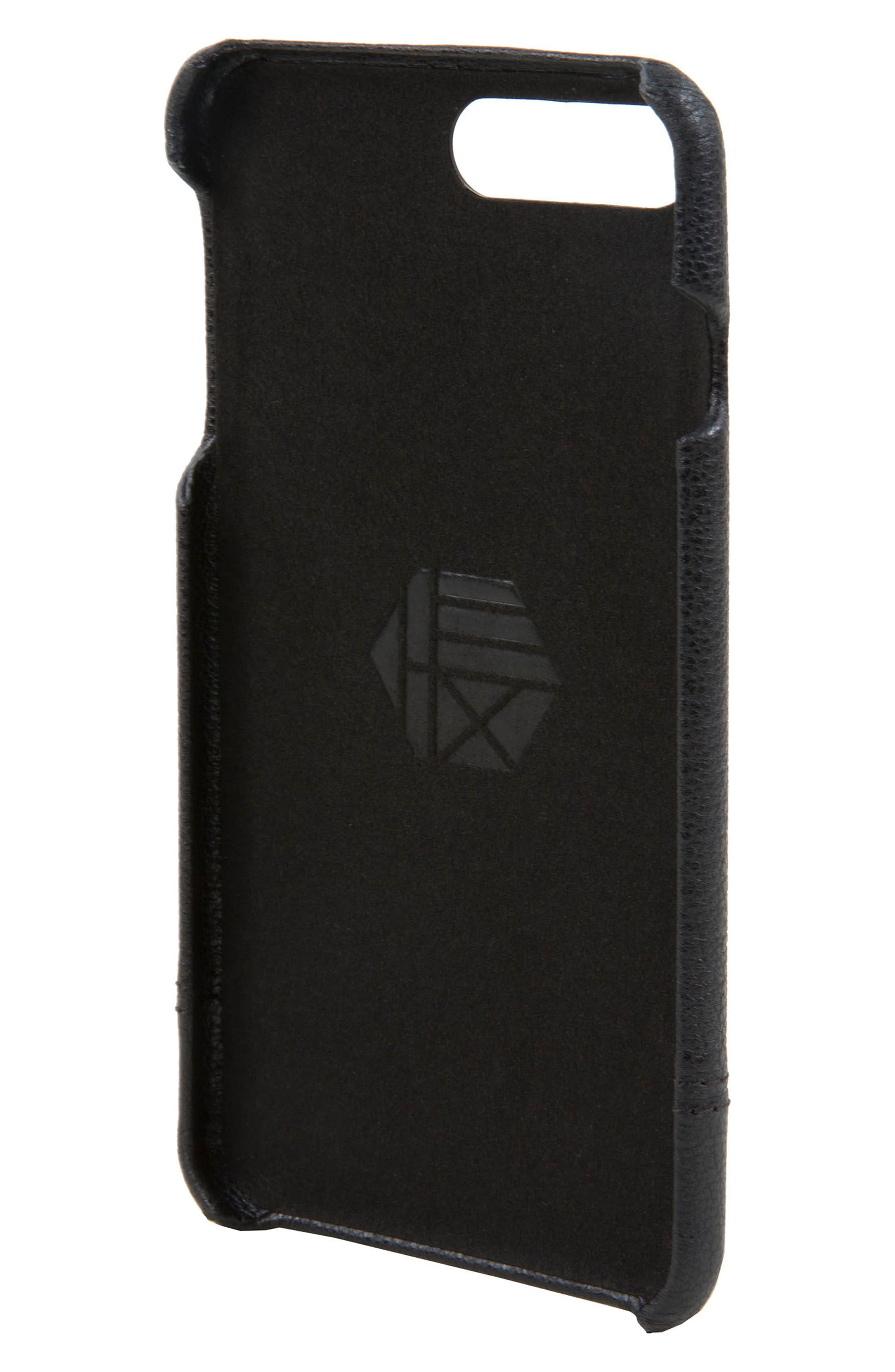 Focus Leather iPhone 6/6s/7/8 Plus Case,                             Alternate thumbnail 2, color,                             Black