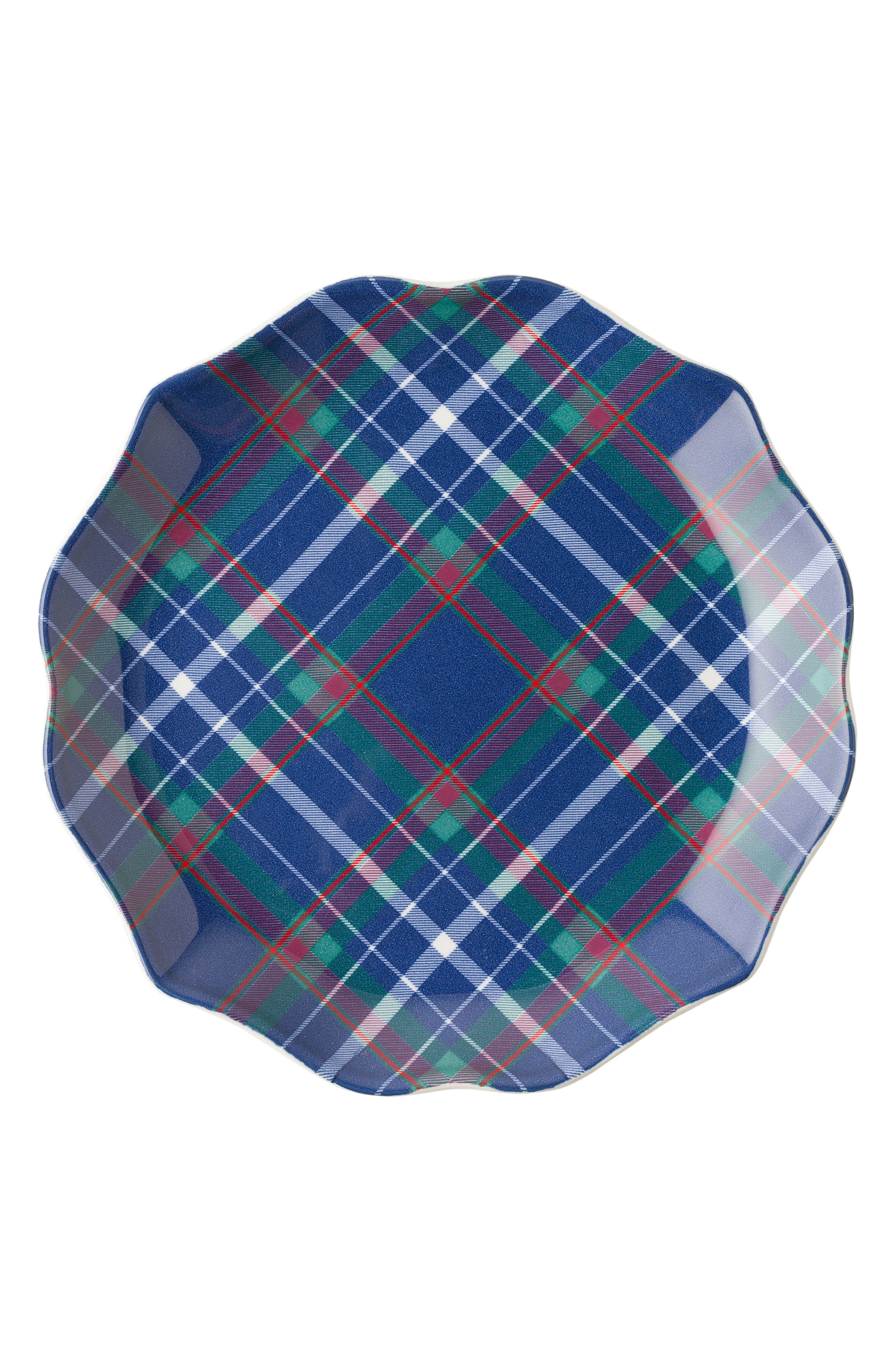 New Traditions - Tartan Tidbit Set of 4 Plates,                             Alternate thumbnail 4, color,                             Multi