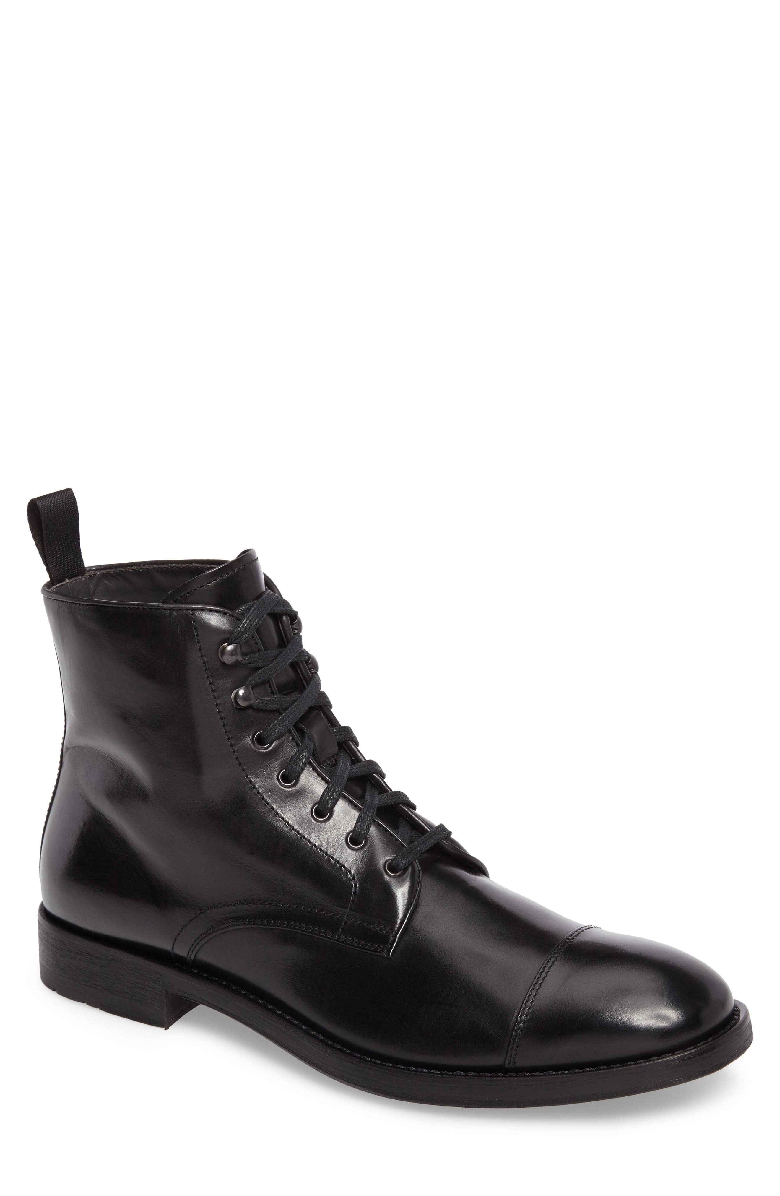 Bondfield Cap Toe Boot,                             Main thumbnail 1, color,                             Black