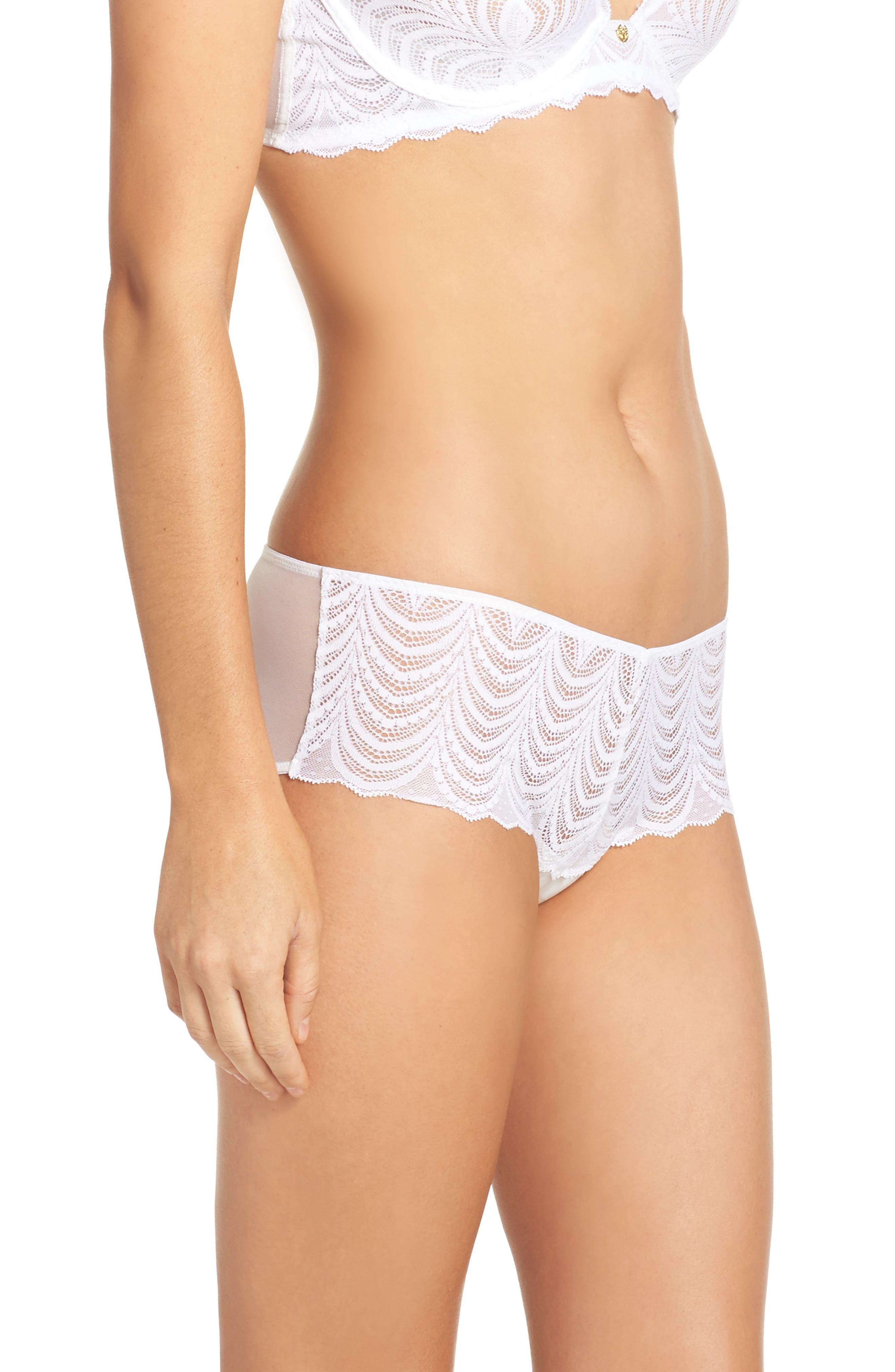 Art Deco Hipster Bikini,                             Alternate thumbnail 3, color,                             White