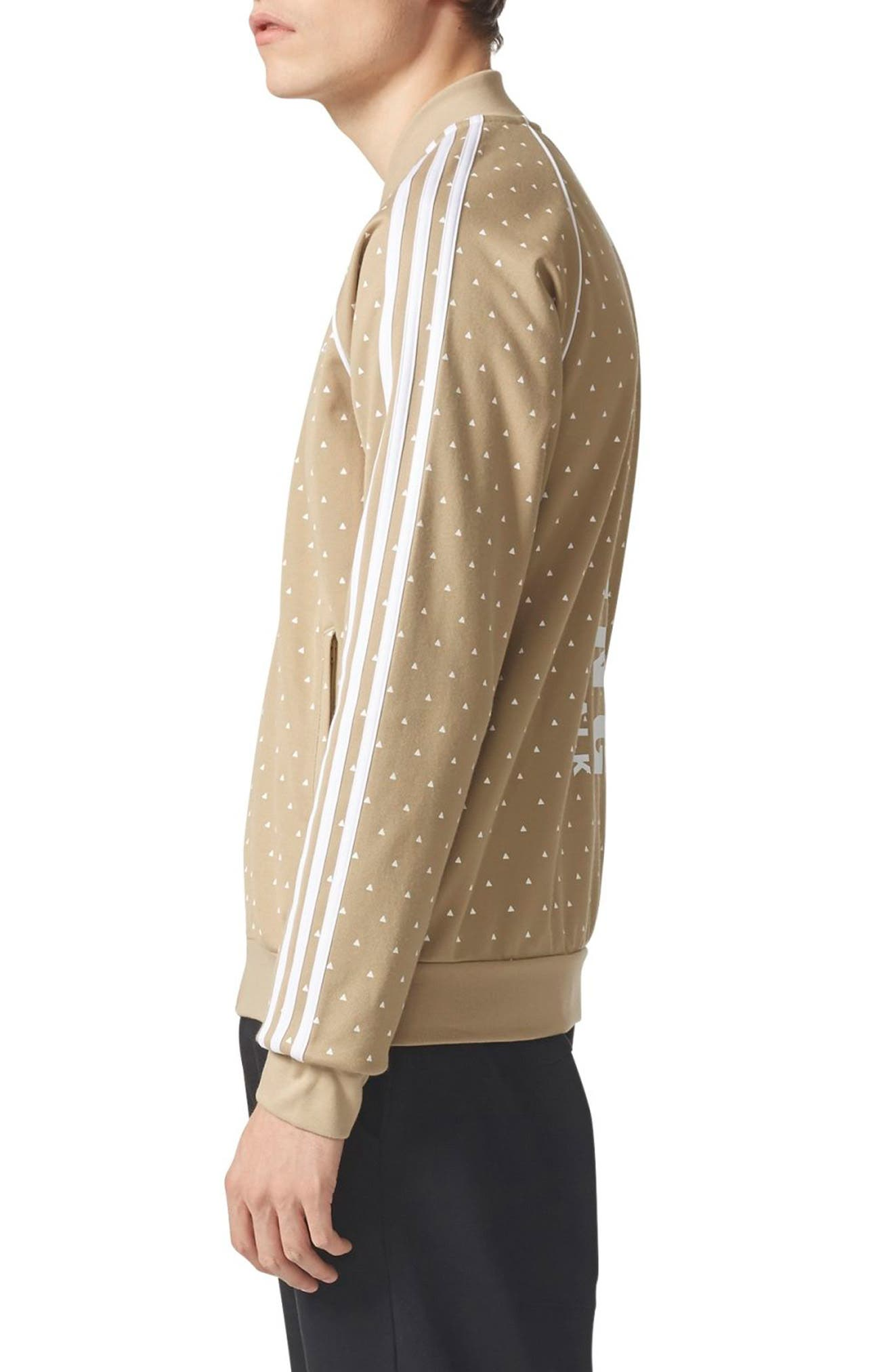 Originals Pharrell Williams Hu Hiking SST Track Jacket,                             Alternate thumbnail 3, color,                             Hemp