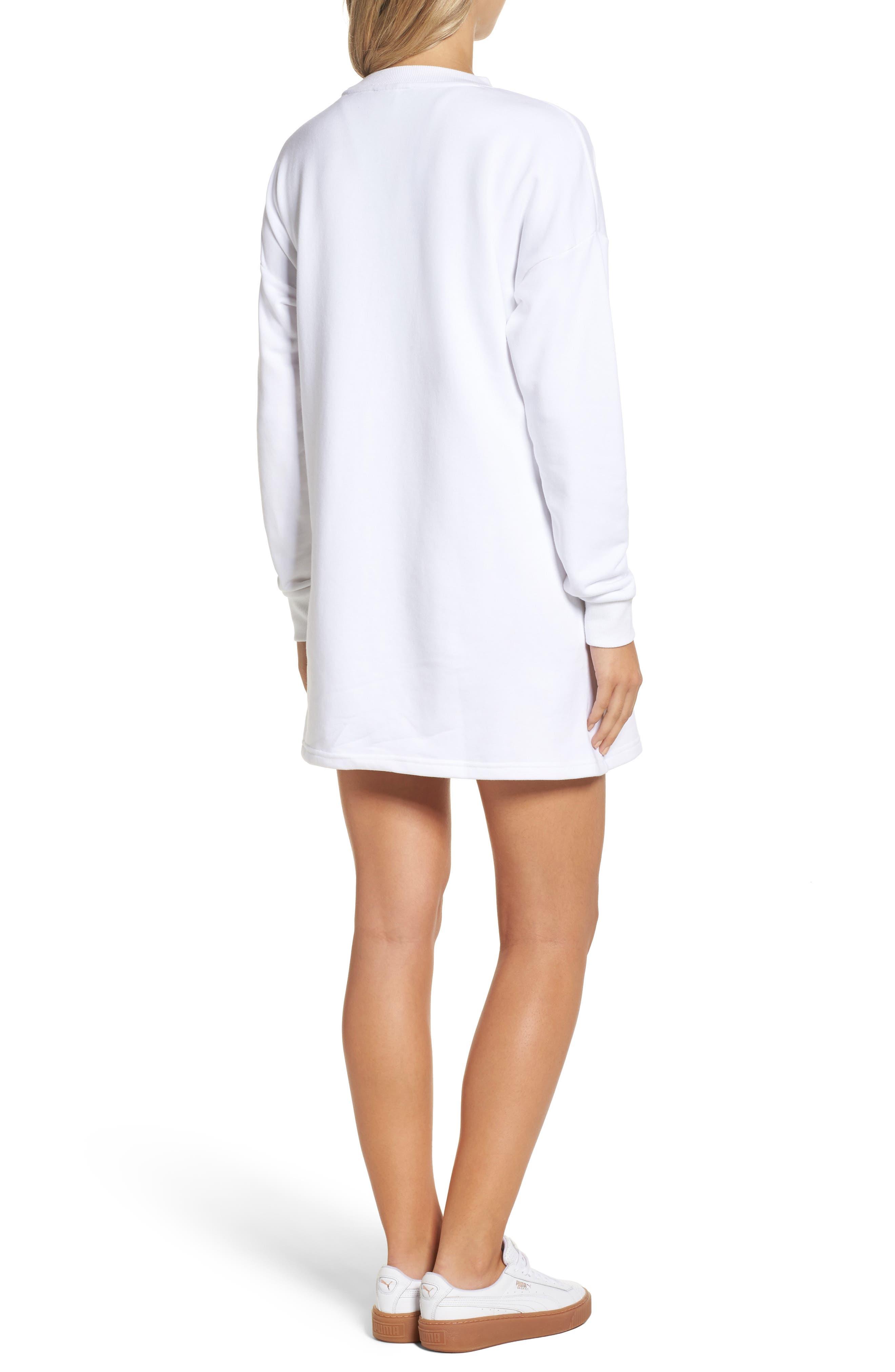 Alternate Image 2  - PUMA Fusion Sweatshirt Dress