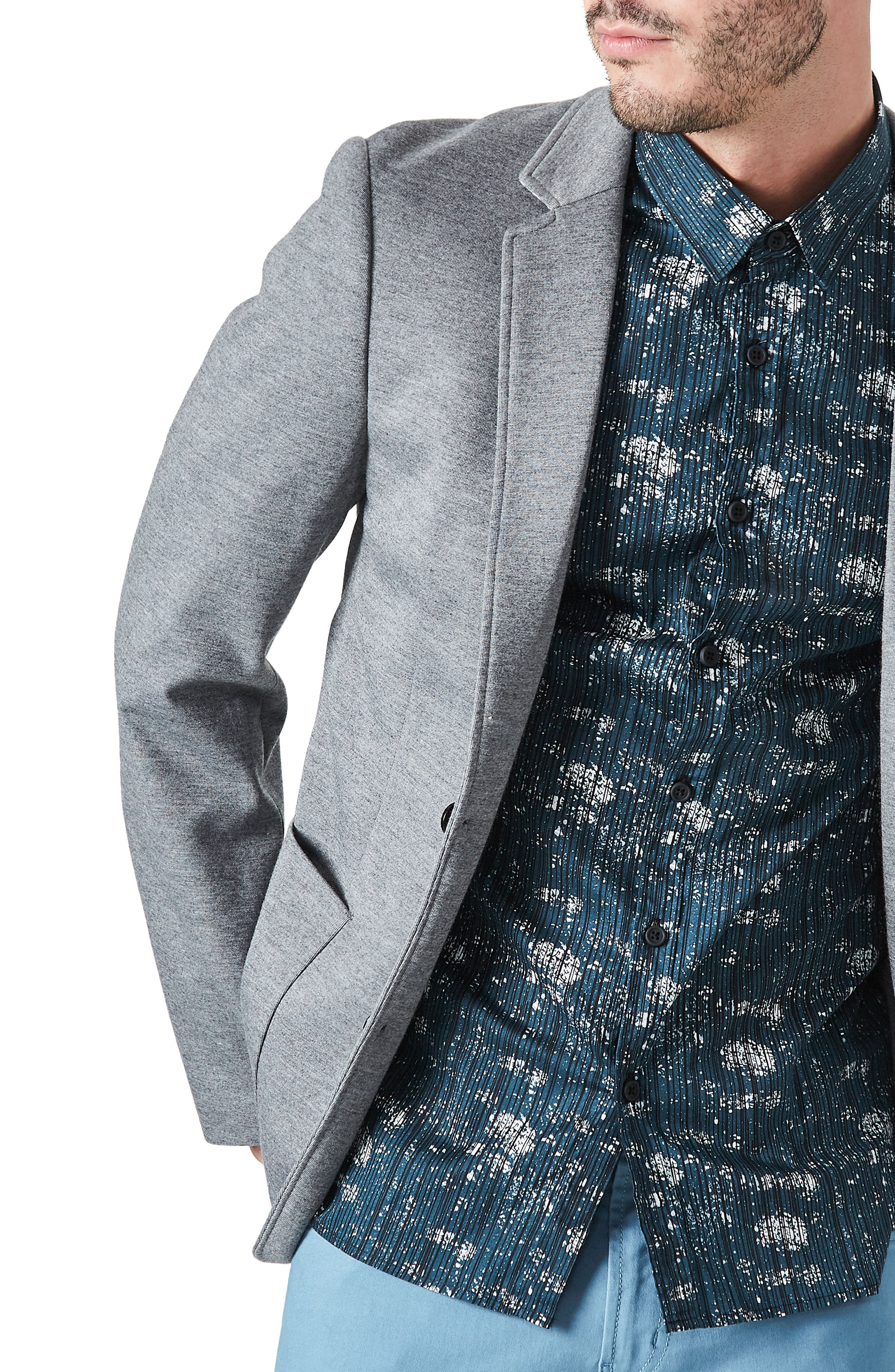 Urbino Casual Blazer,                             Alternate thumbnail 4, color,                             Grey