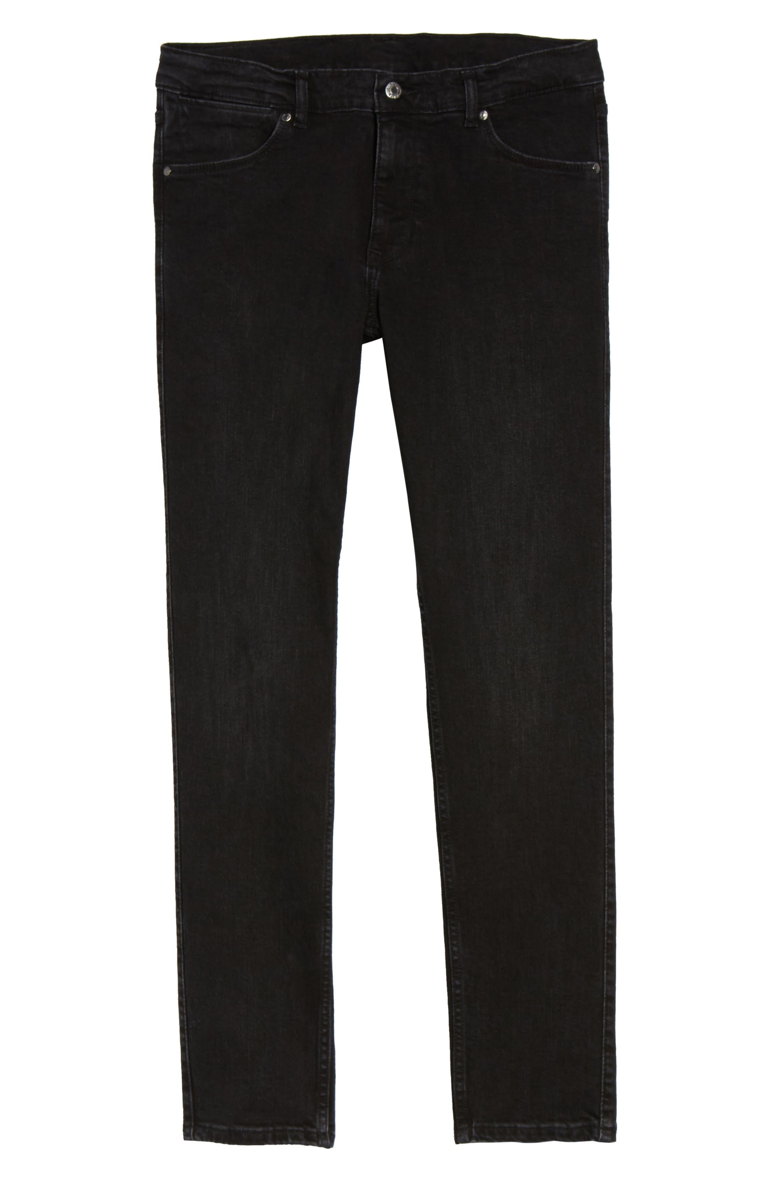 Clark Slim Straight Leg Jeans,                             Alternate thumbnail 6, color,                             Organic Worn Black