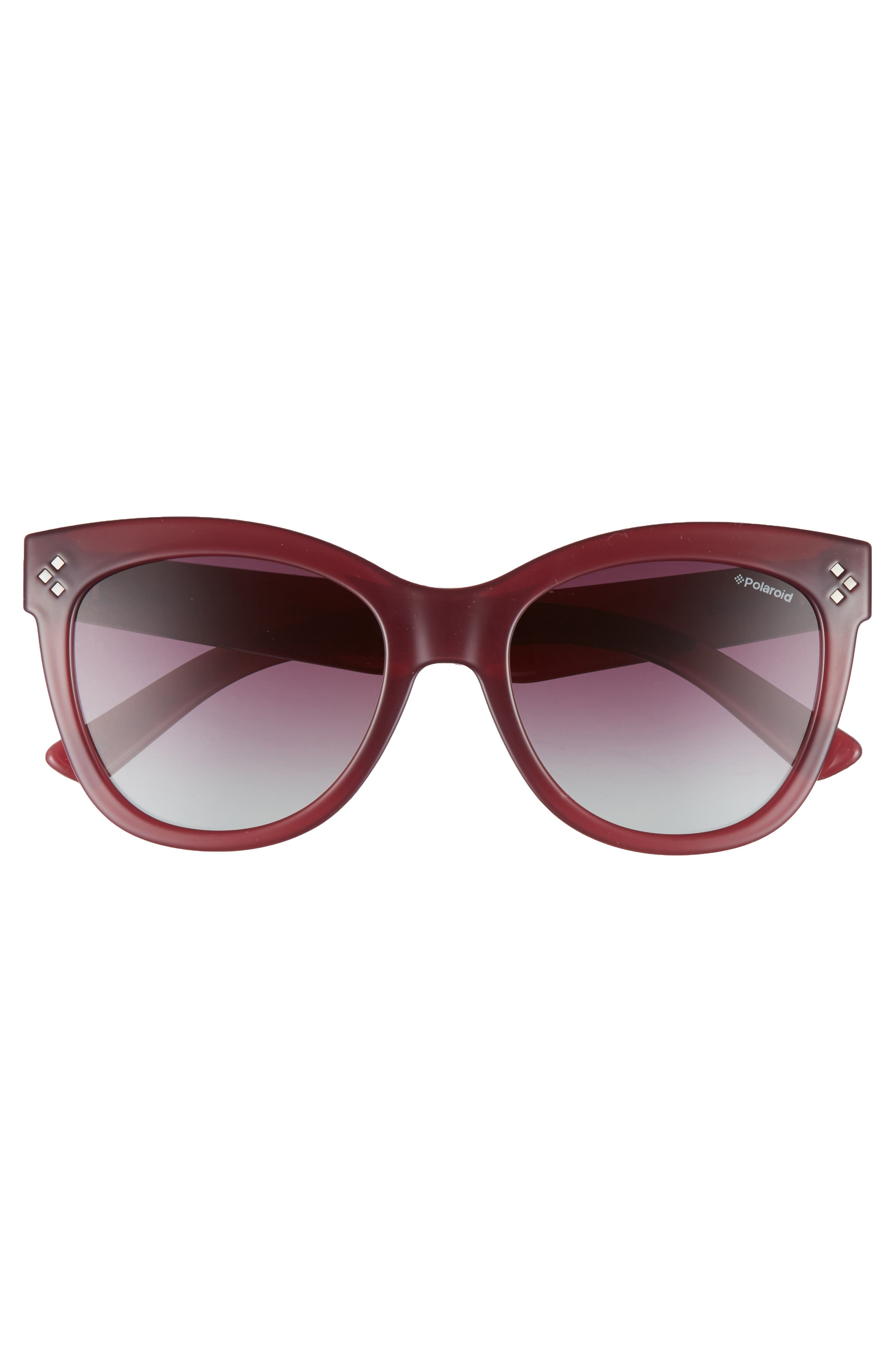 54mm Polarized Sunglasses,                             Alternate thumbnail 2, color,                             Red