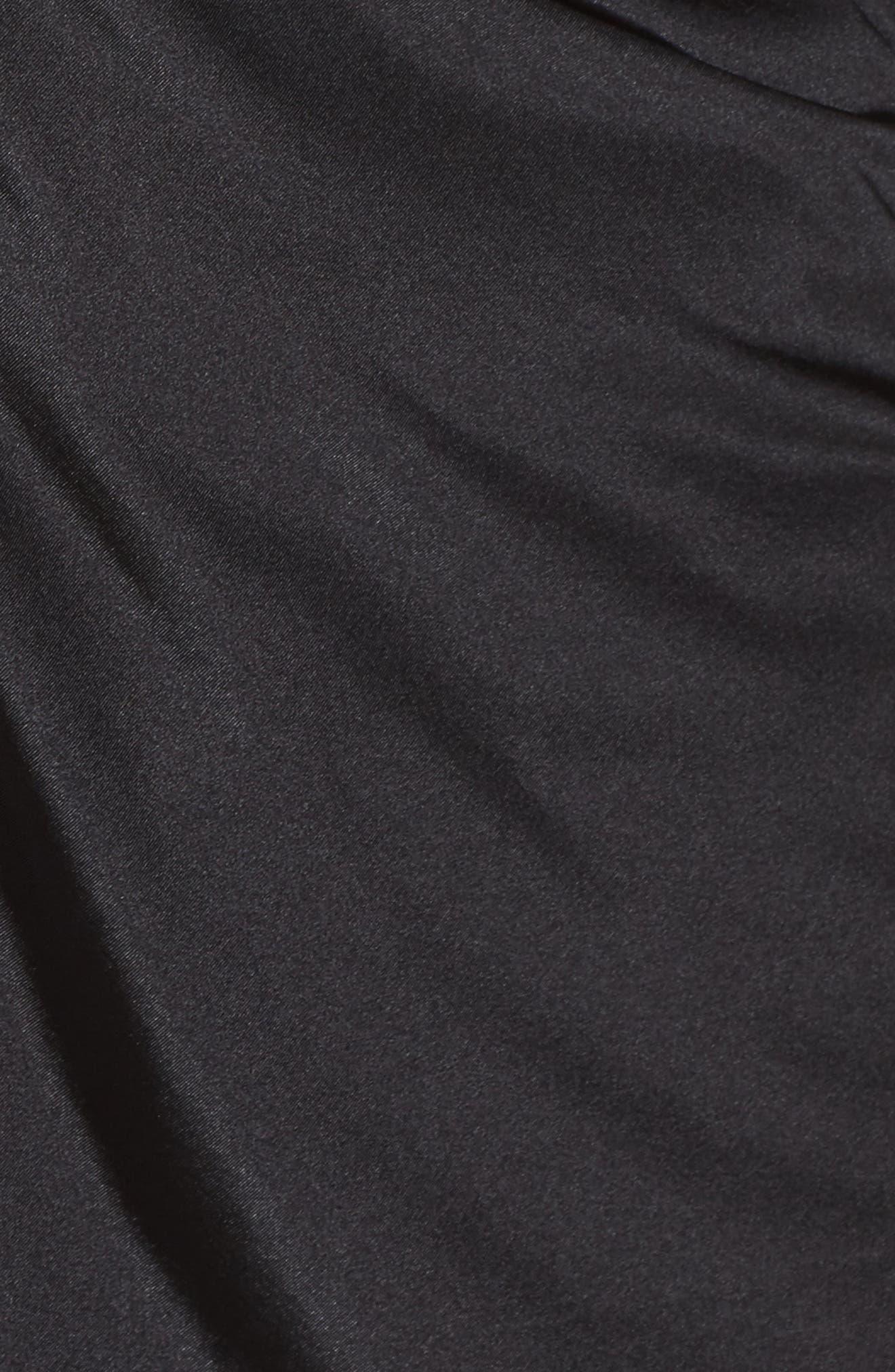 Drape Front Top,                             Alternate thumbnail 4, color,                             Black