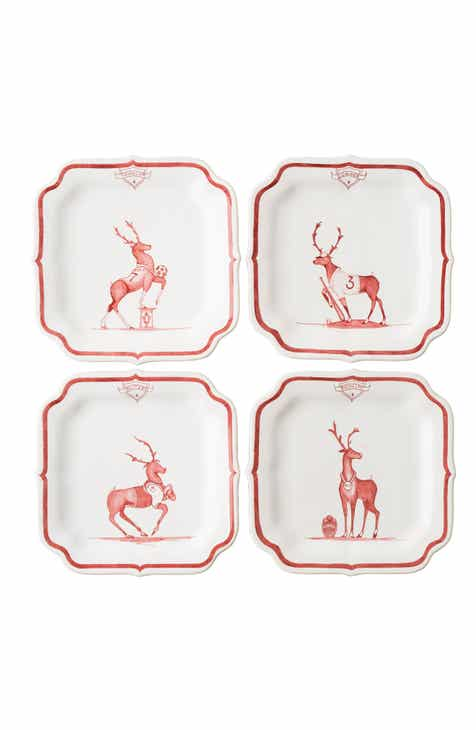 juliska reindeer games team sports set of 4 tidbit plates