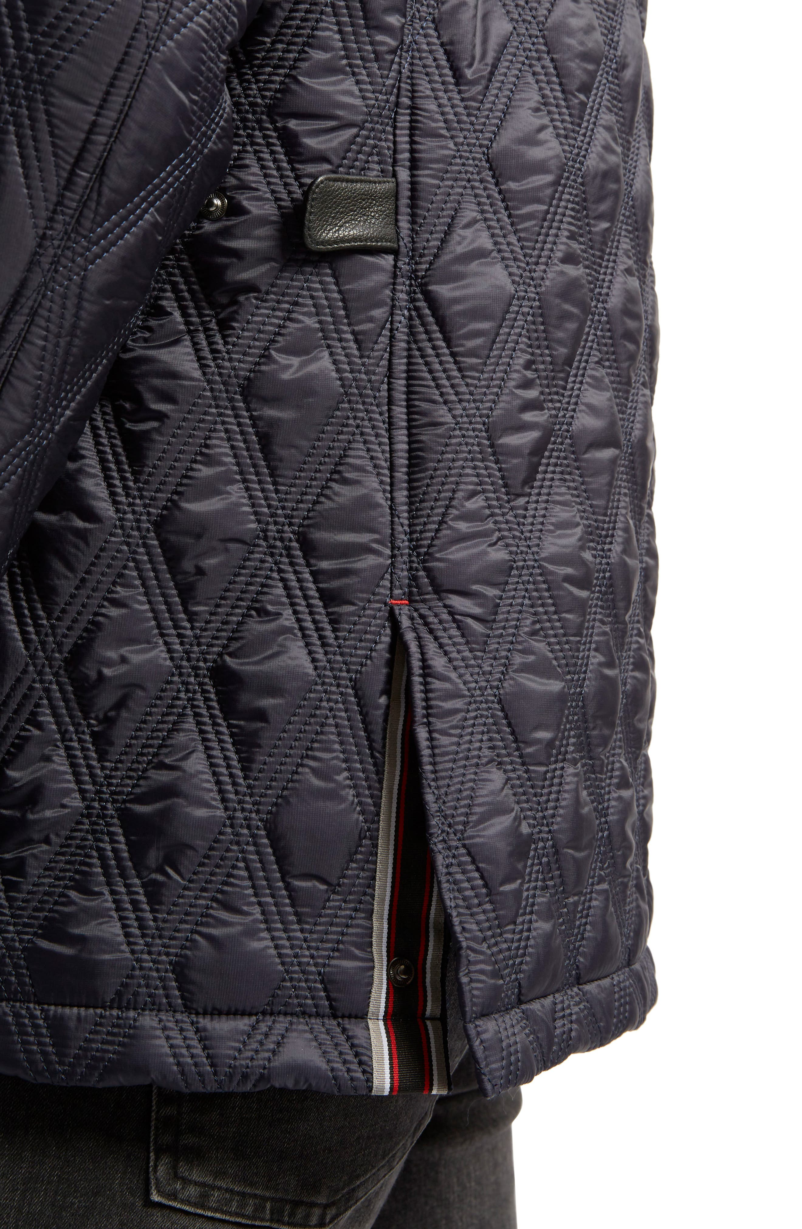 Prichard Triple Stitch Quilted Heat System Jacket,                             Alternate thumbnail 7, color,                             Midnight